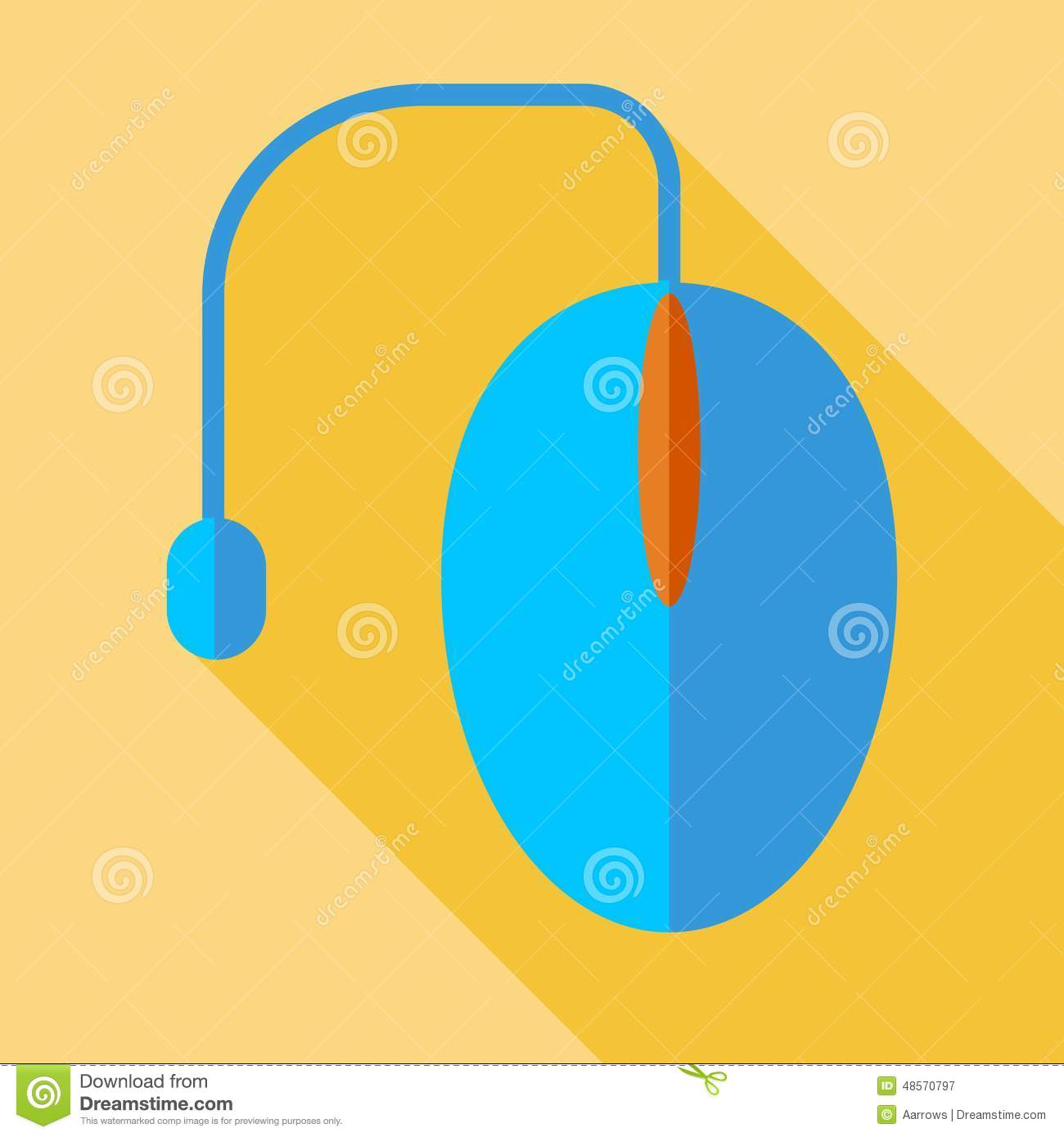 Modern Flat Design Concept Icon Computer Mouse Illustration Diagram
