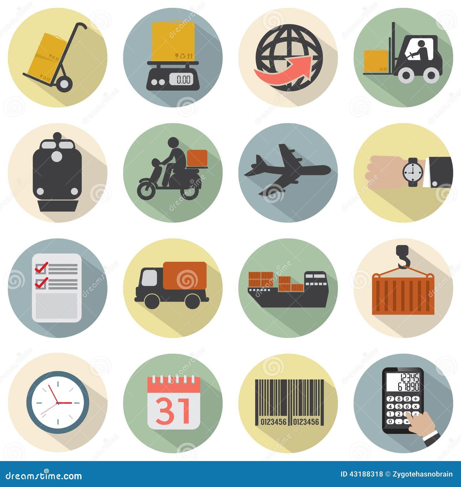 Logistics Calendar Design : Modern flat design logistics icon set stock vector image