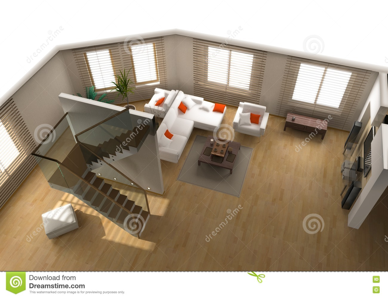 Modern flat interior stock illustration image of plan for Flat interior images