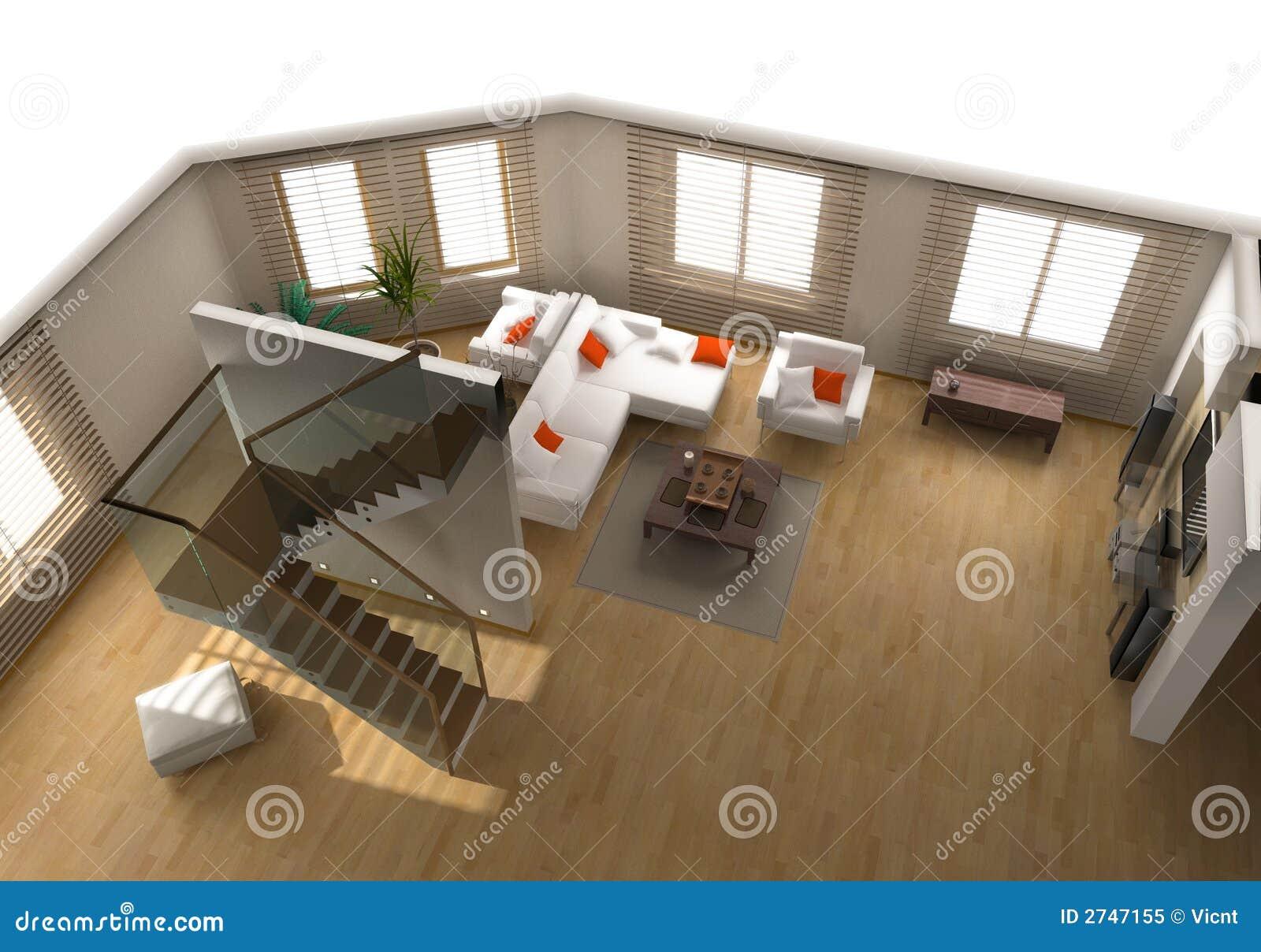 Modern flat interior royalty free stock photo image 2747155 for Flat interior