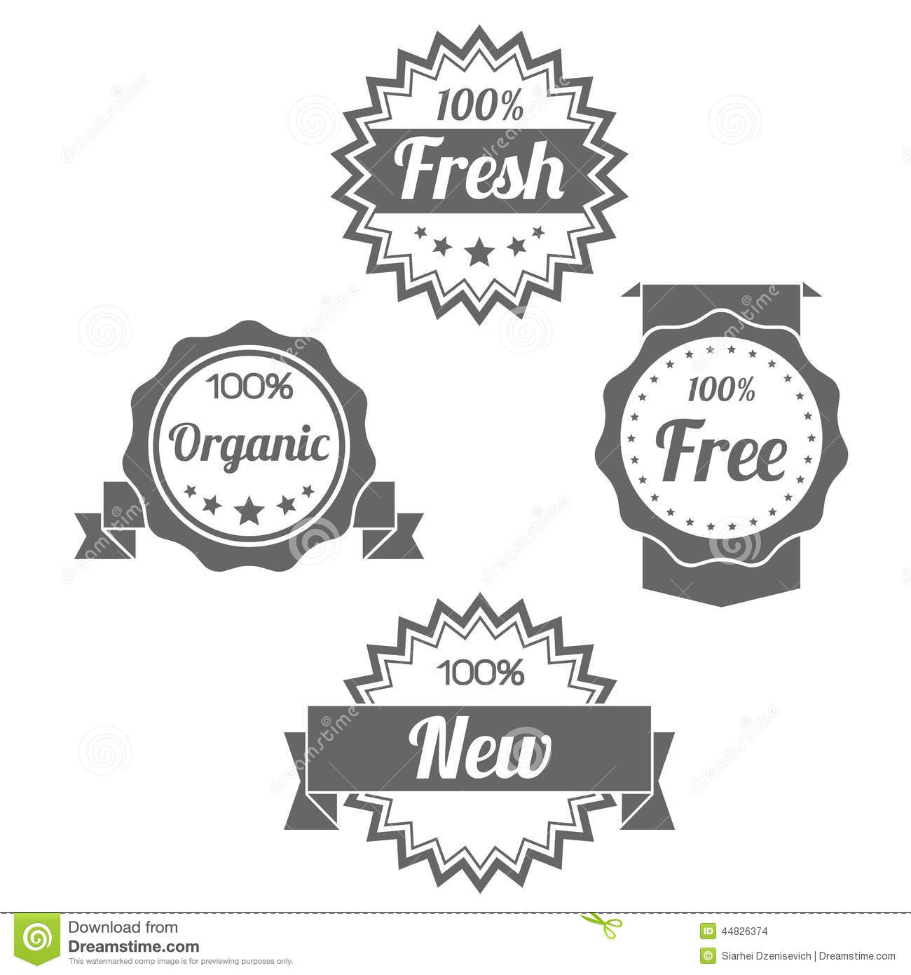 Modern Flat Shop Badges Tags Stamps Stock Vector - Image ...