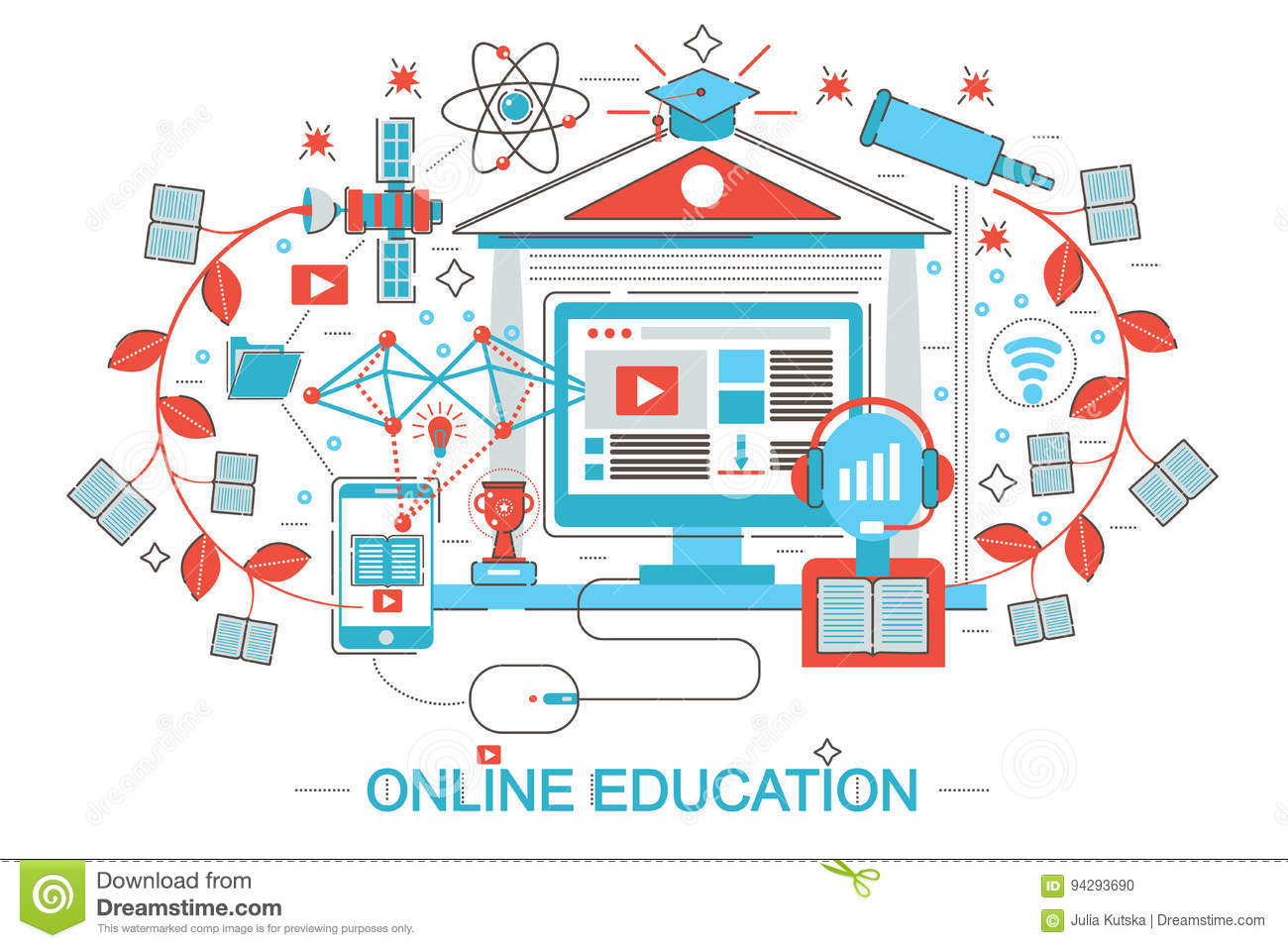 E learning poster designs - Royalty Free Vector