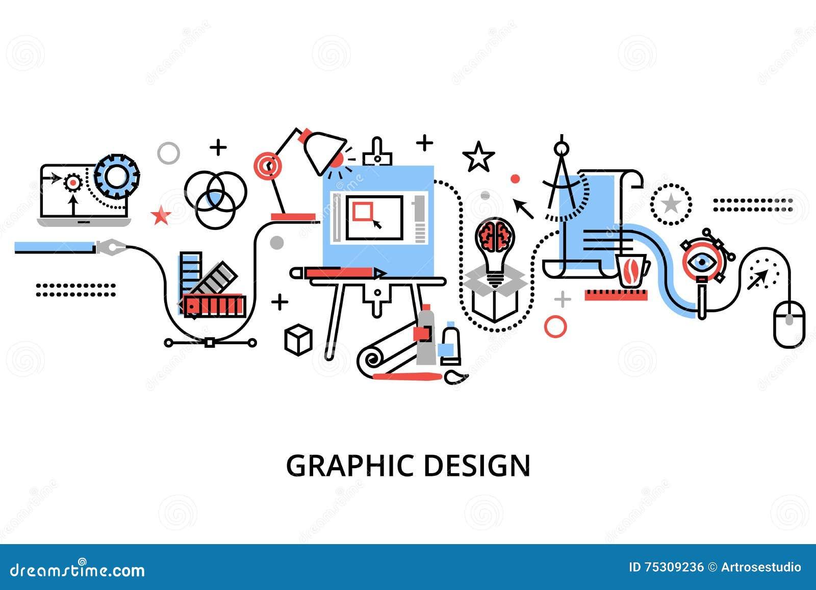 Modern Flat Thin Line Design Vector Illustration Vector