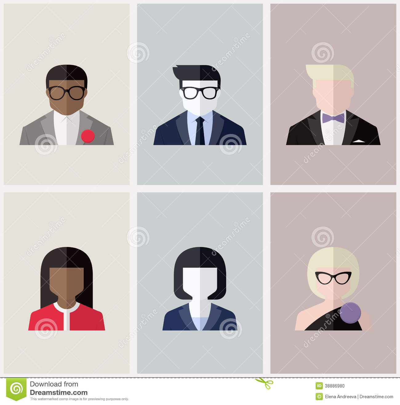 Book Icon Vector Male Student Or Teacher Person Profile: Modern Flat Vector Avatars Or User Icons Stock Vector