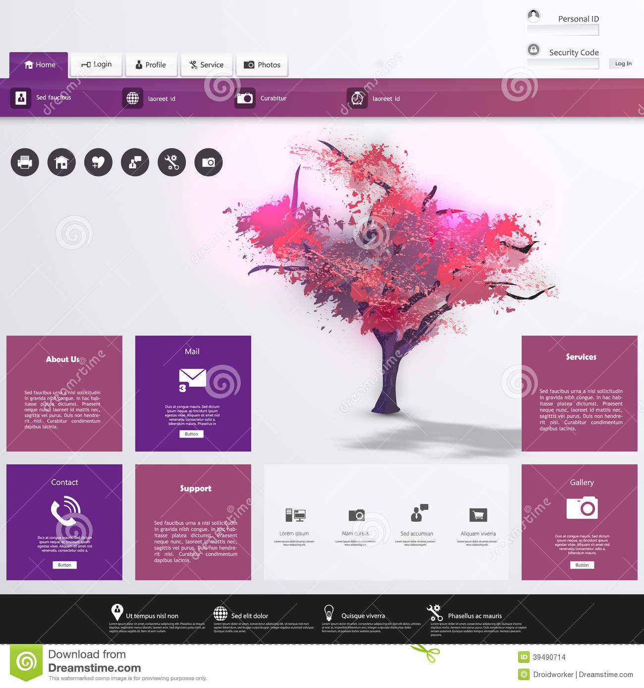 website template for business in editable vector template