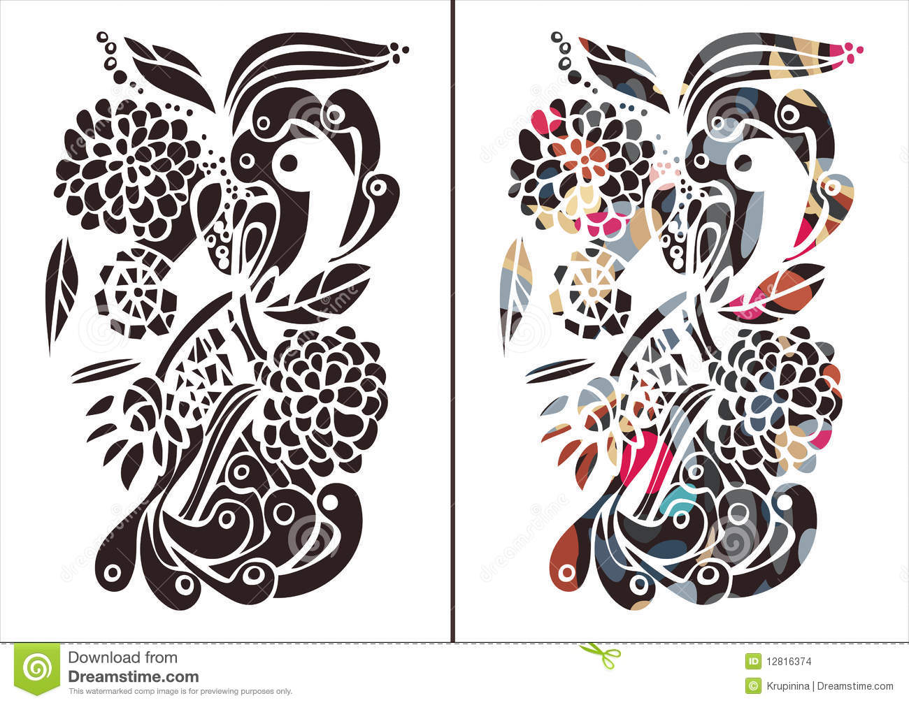 Stock Images: Modern floral print