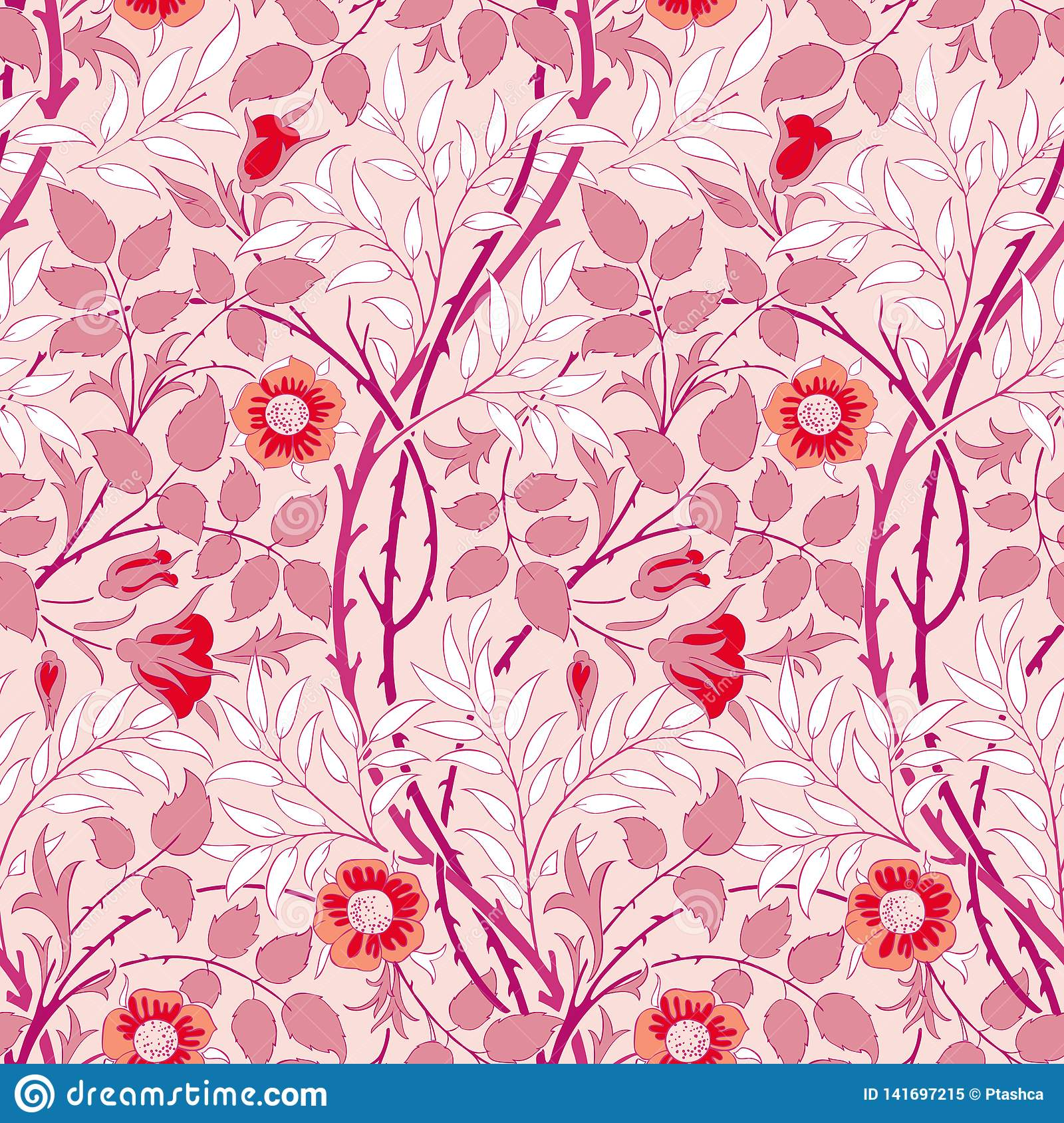 Modern Floral Seamless Pattern For Your Design Stock Vector