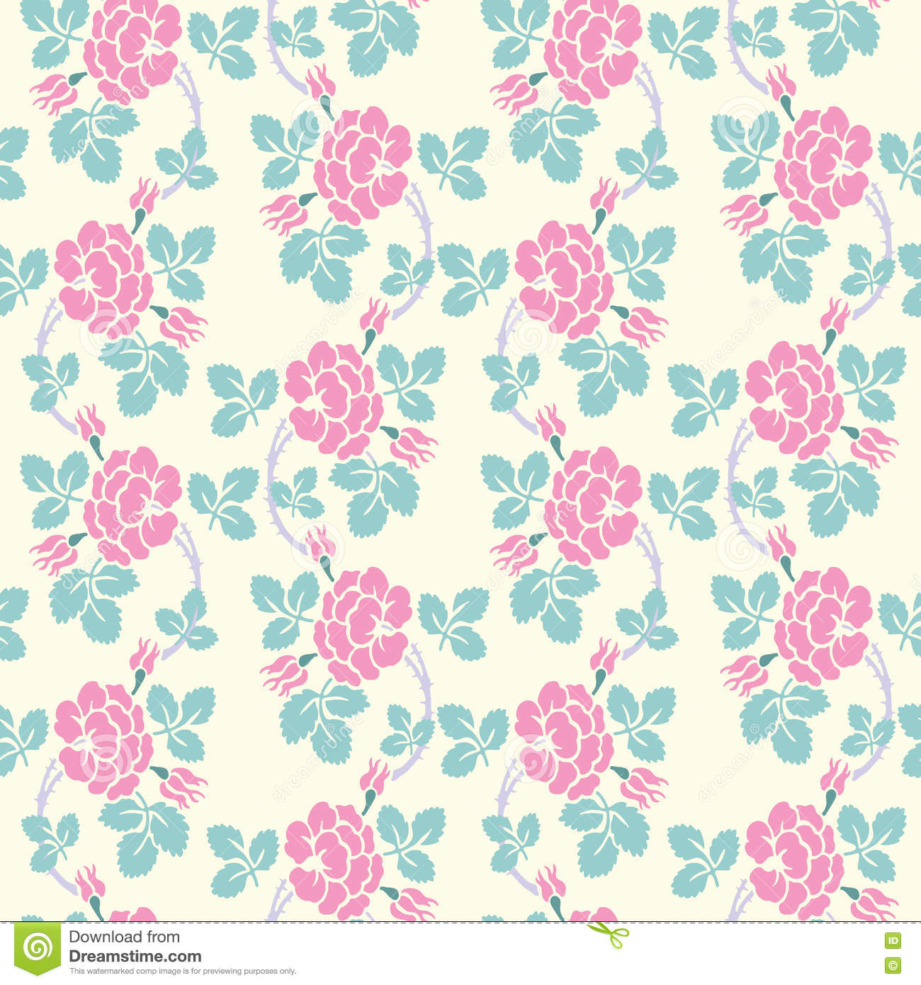 Modern Floral Seamless Pattern For Your Design Vector Background