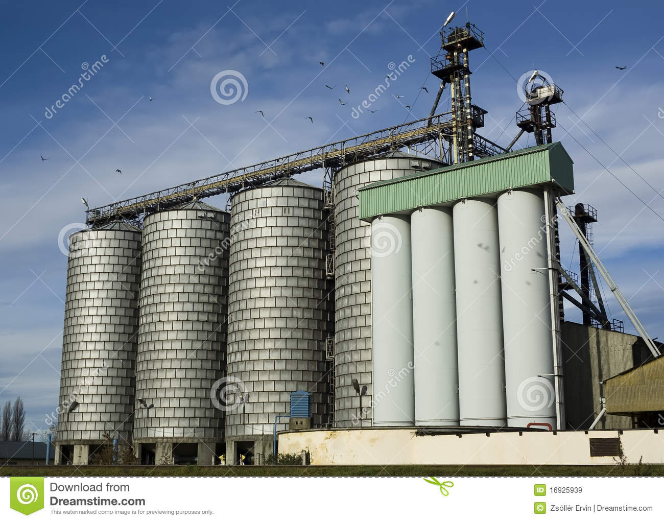 Modern Flour Mill Stock Image Image Of Commercial