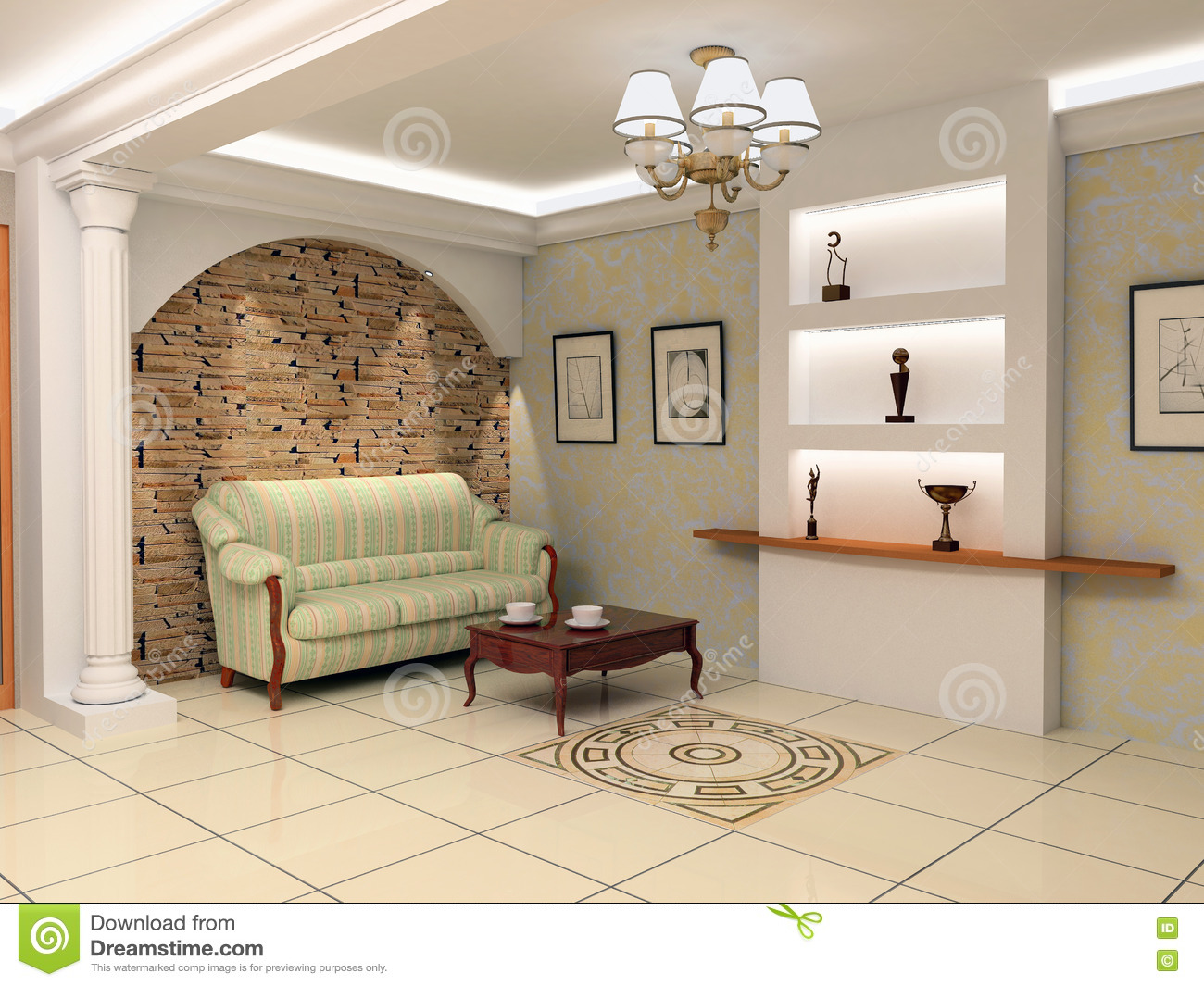 Modern House Foyer Designs : Modern foyer interior stock illustration of
