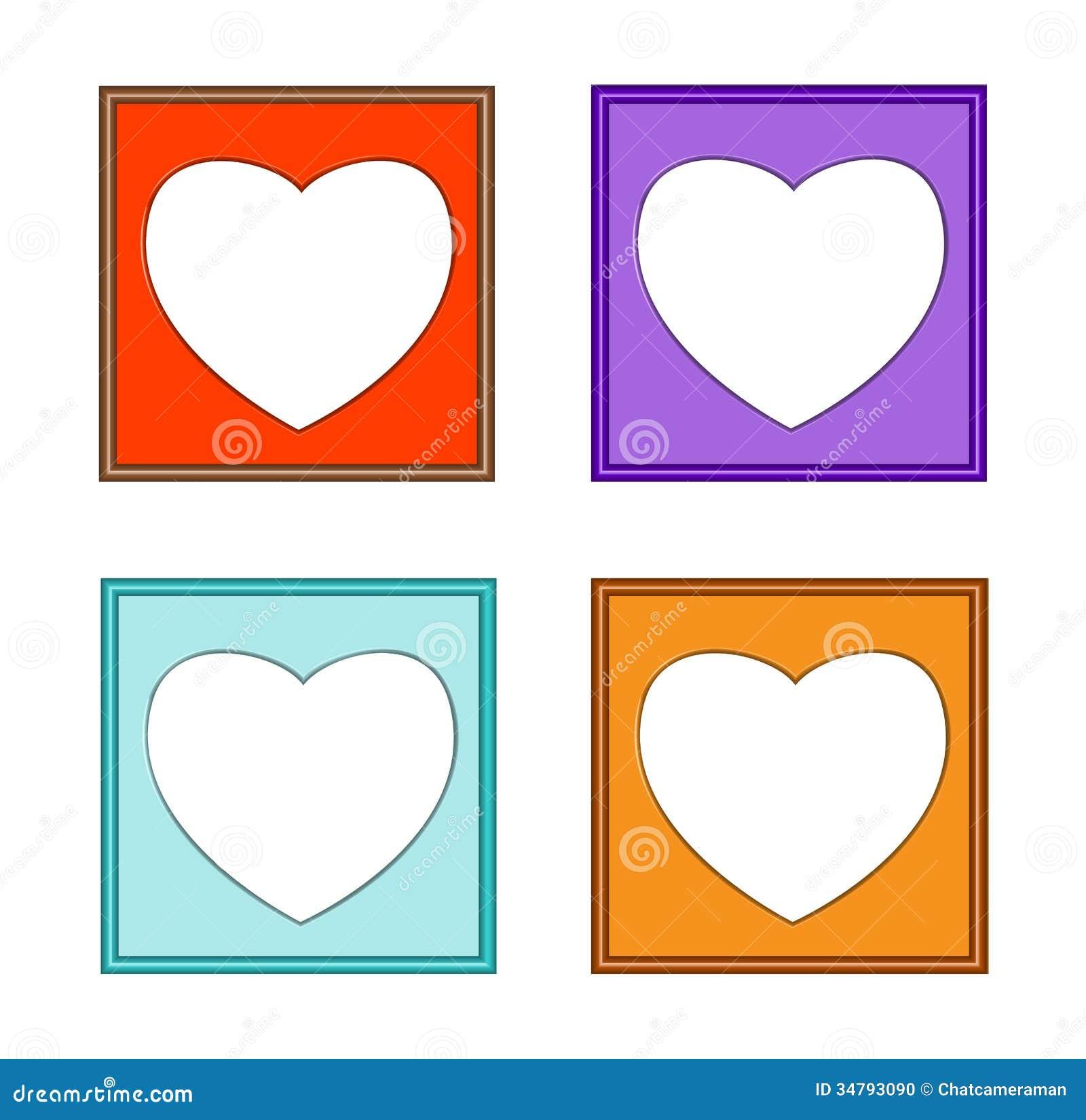 Modern Frame-colorful Heart-01 Stock Illustration - Illustration of ...