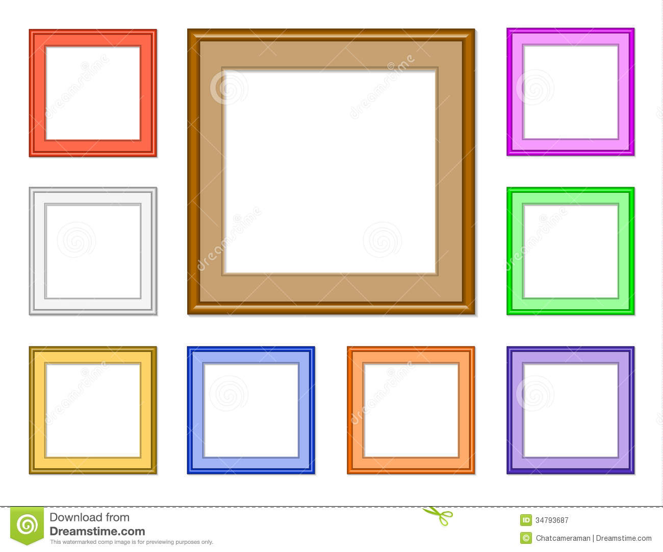 Glasses Frame Website : Modern Frame-square Royalty Free Stock Photography - Image ...