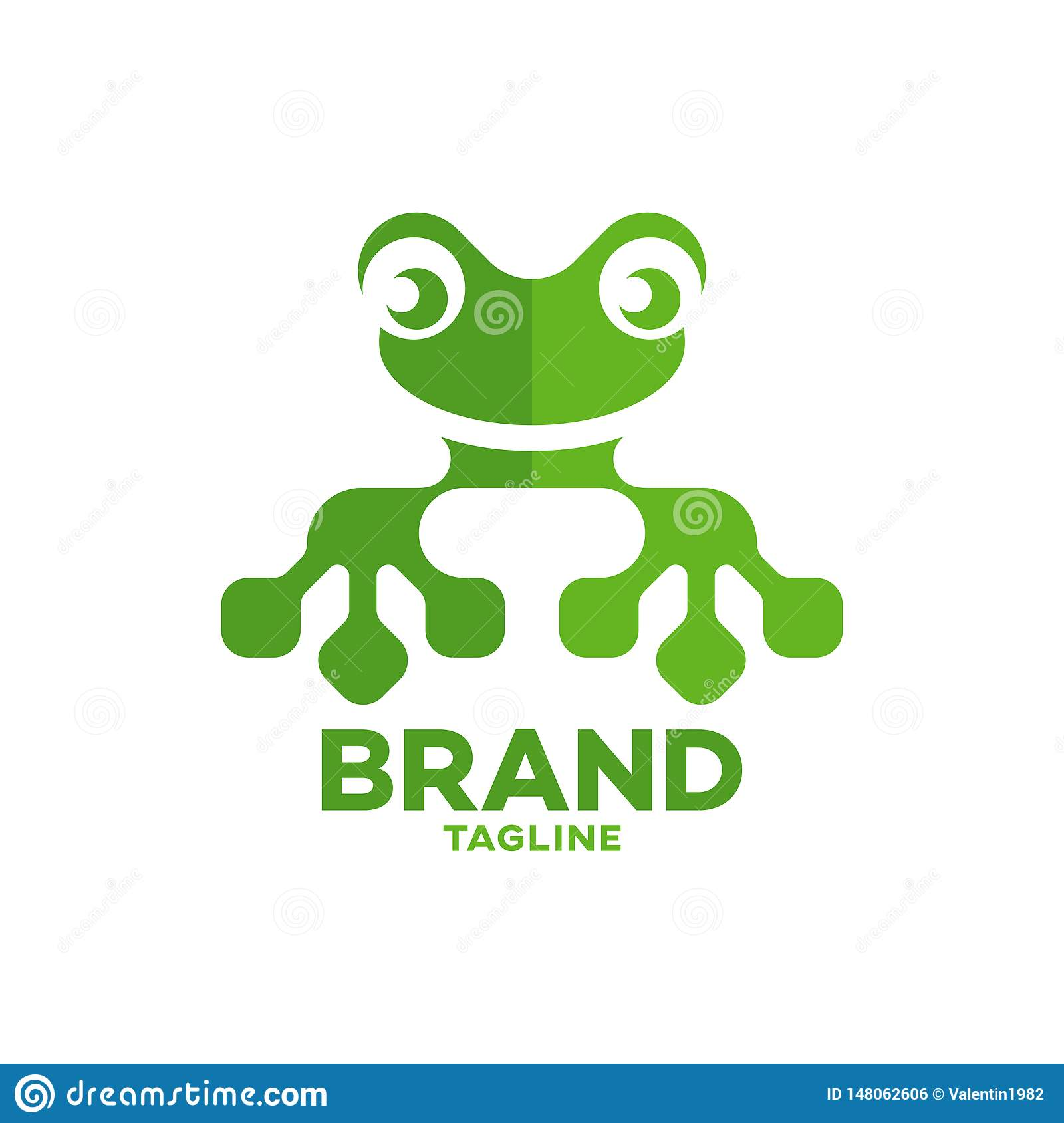 Modern Frog And Technology Logo Stock Vector ...
