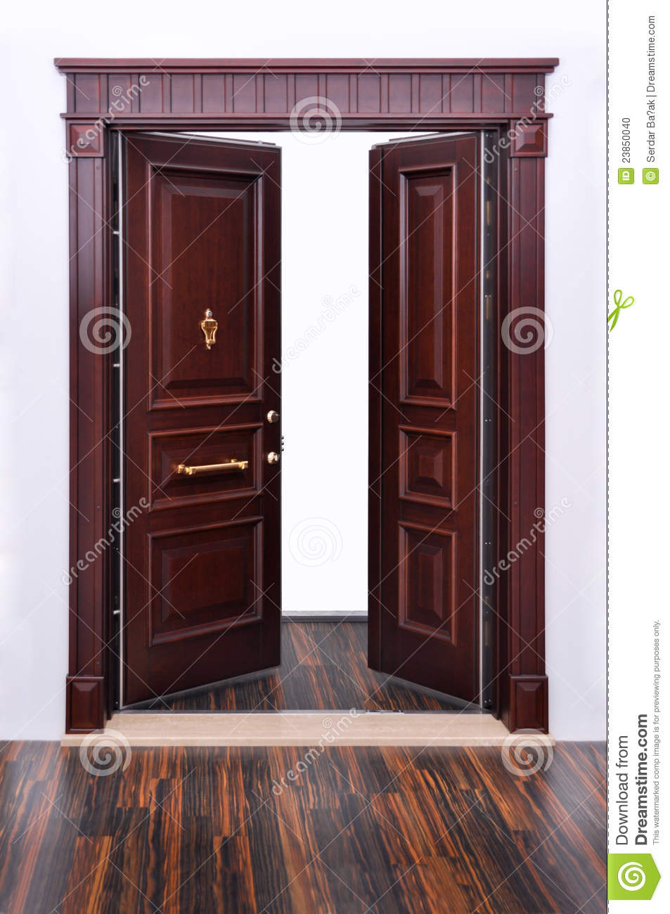 Modern Front Door Stock Photo - Image: 23850040