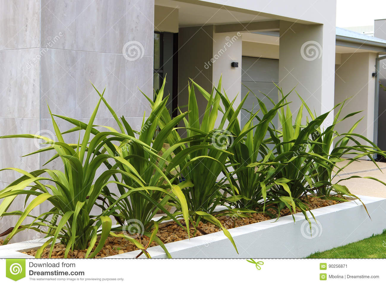 Modern Front Yard Design Ideas Stock Image - Image of ...