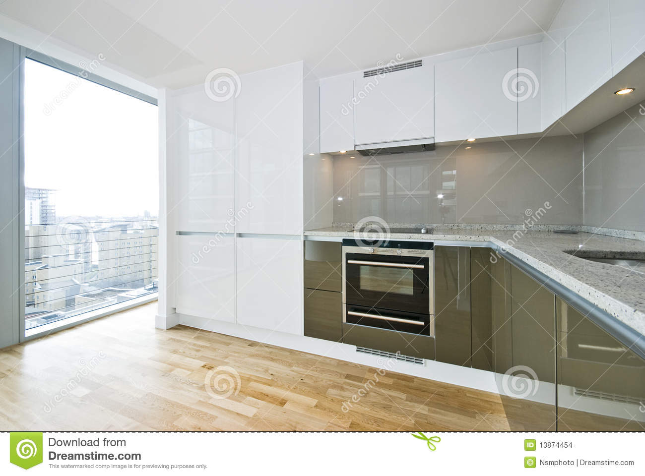 Modern fully fitted kitchen stock images image 13874454 for Modern fitted kitchen
