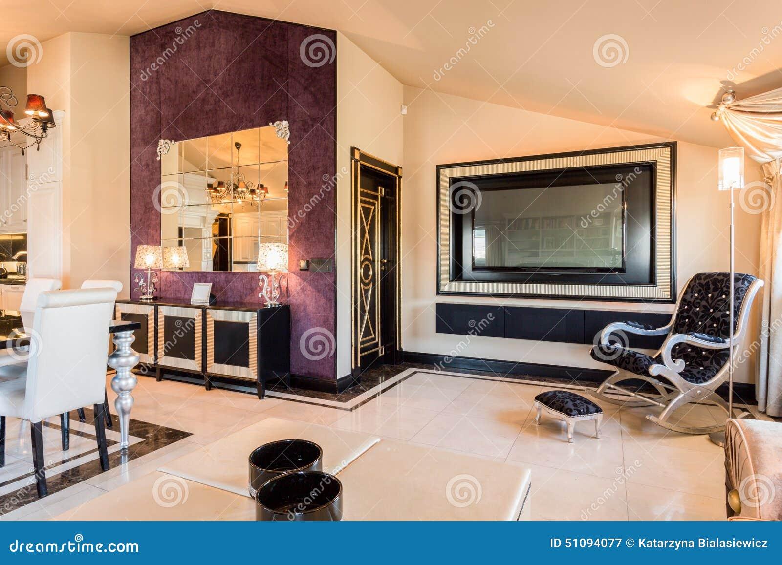 Modern Furniture In Beauty Apartment Stock Image - Image of door ...