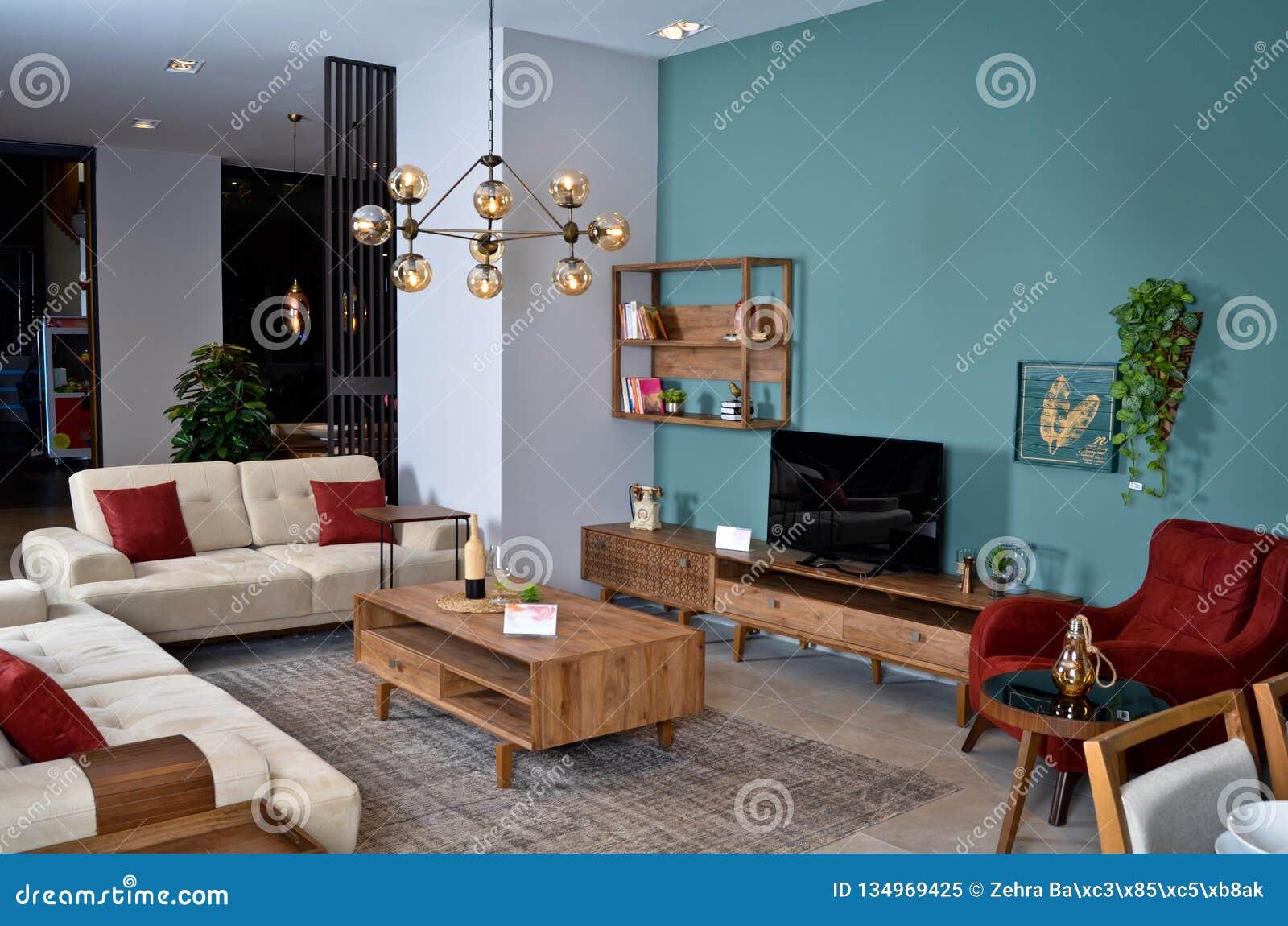 Enjoyable Tastefully Decorated Beautiful Living Room Stock Image Download Free Architecture Designs Grimeyleaguecom