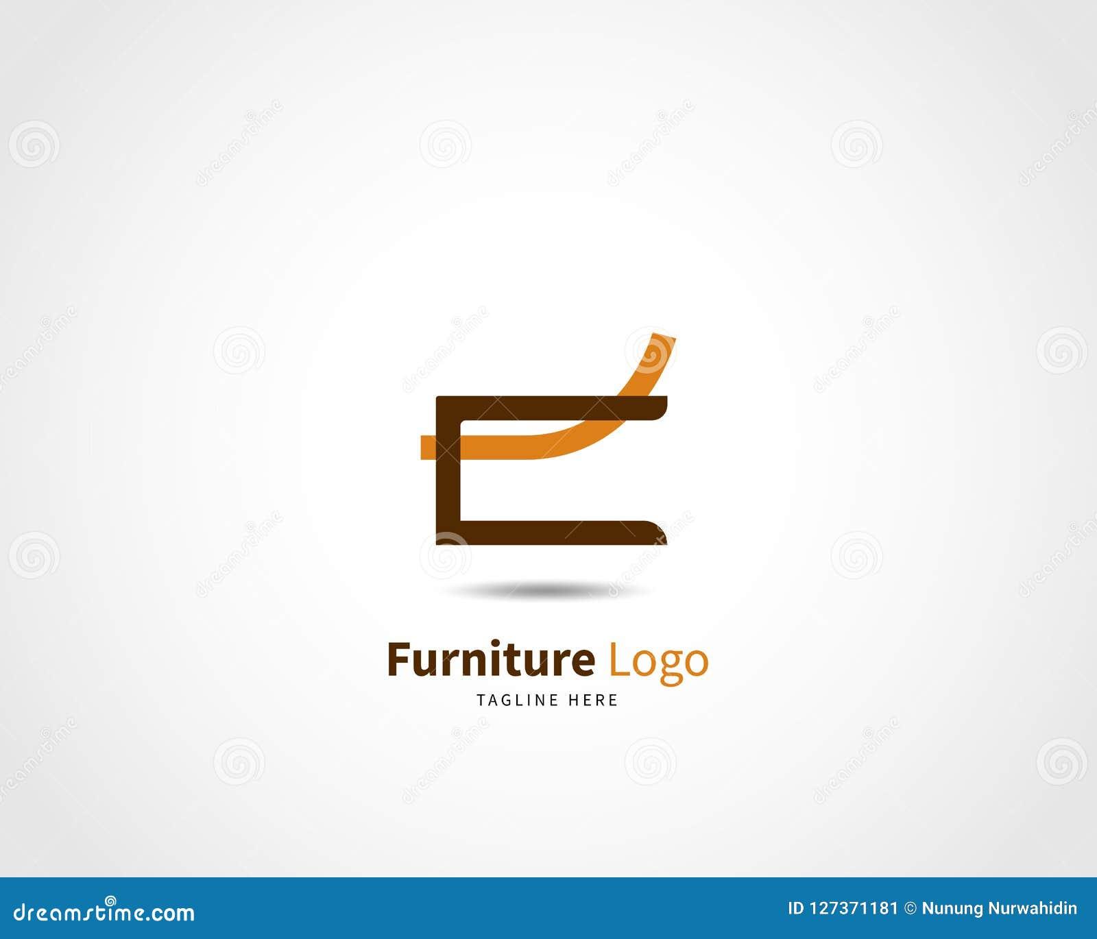 Modern Furniture Logo Design Template Vector Illustration