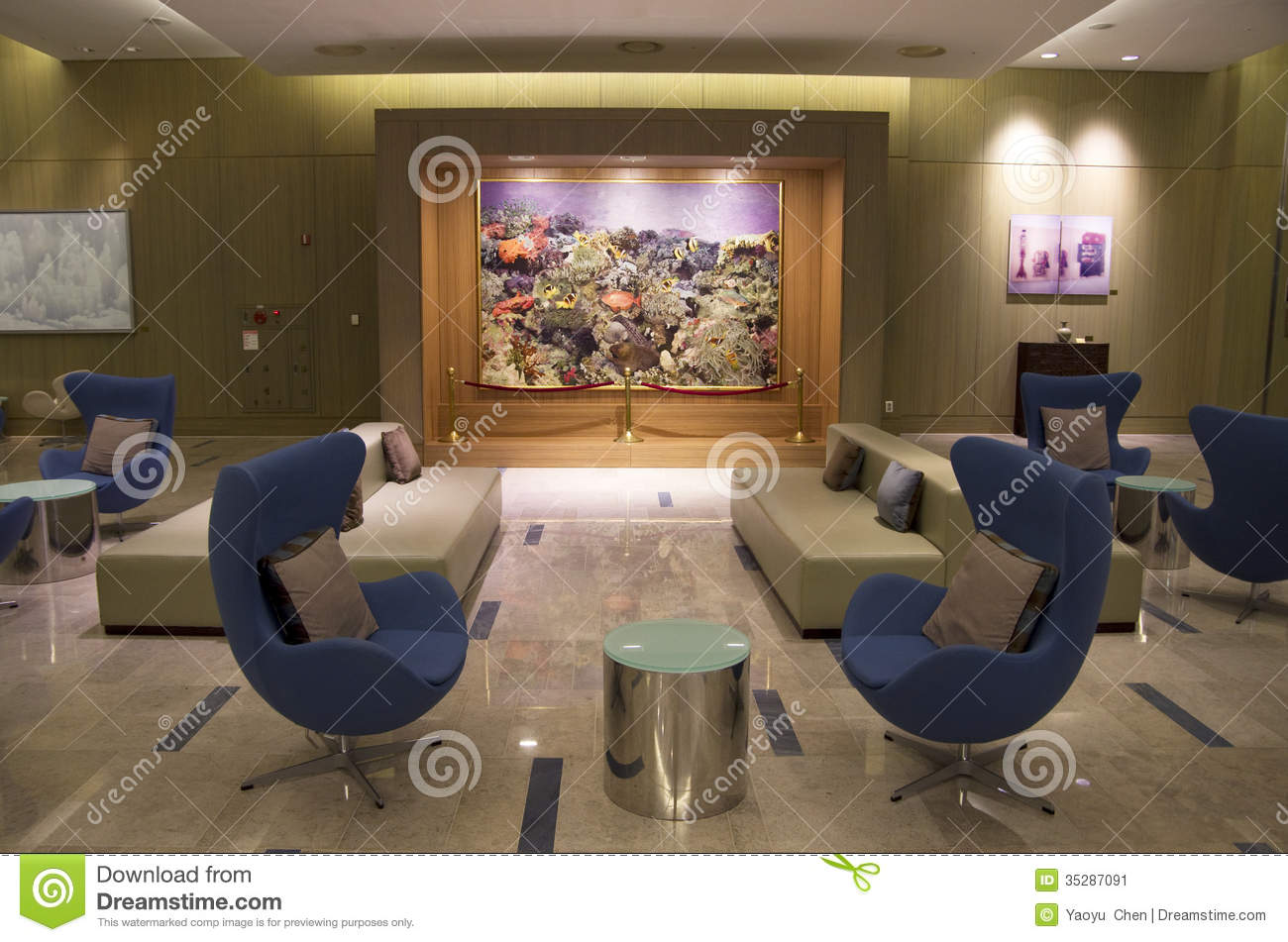 Modern Furniture In Luxury Hotel Lobby Editorial Photo