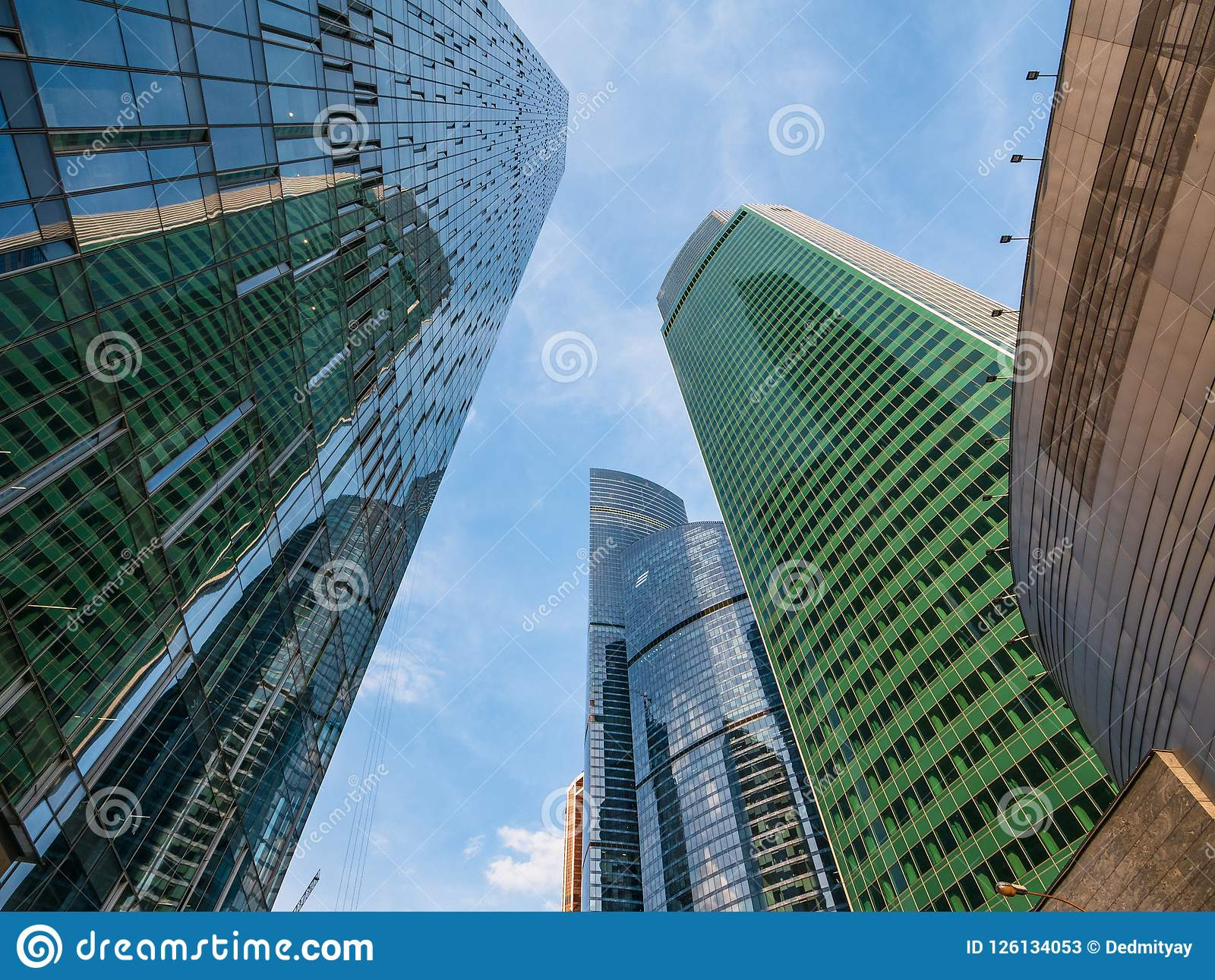 Download Modern Futuristic Skyscrapers Buildings In Business Center Moscow City Stock Image
