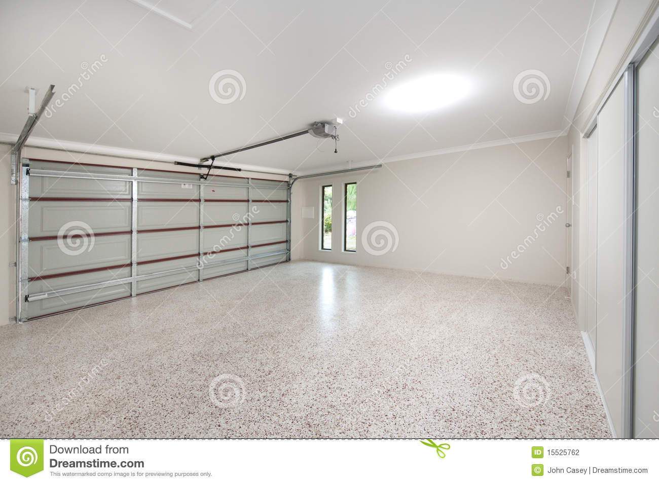 Modern garage interior stock photo image of inside concrete 15525762 - Bardage moderne ...