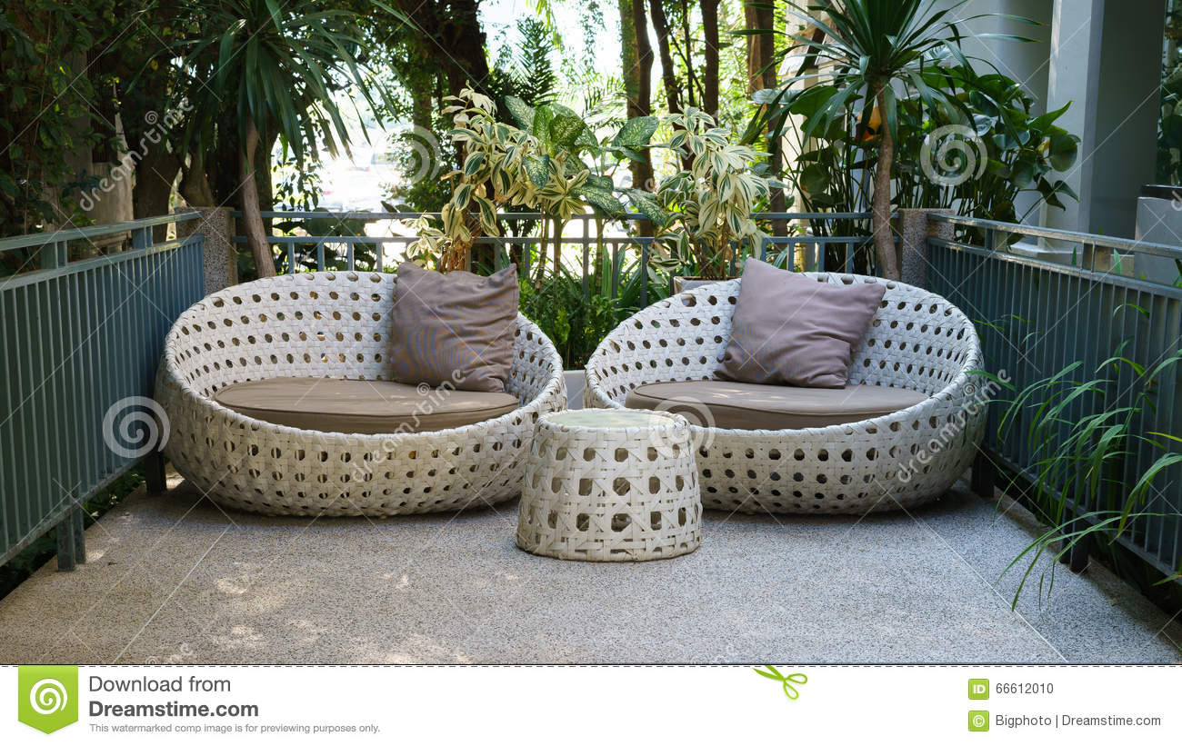 Astounding Modern Garden Sofa Or Love Seat In The Home Garden Stock Onthecornerstone Fun Painted Chair Ideas Images Onthecornerstoneorg