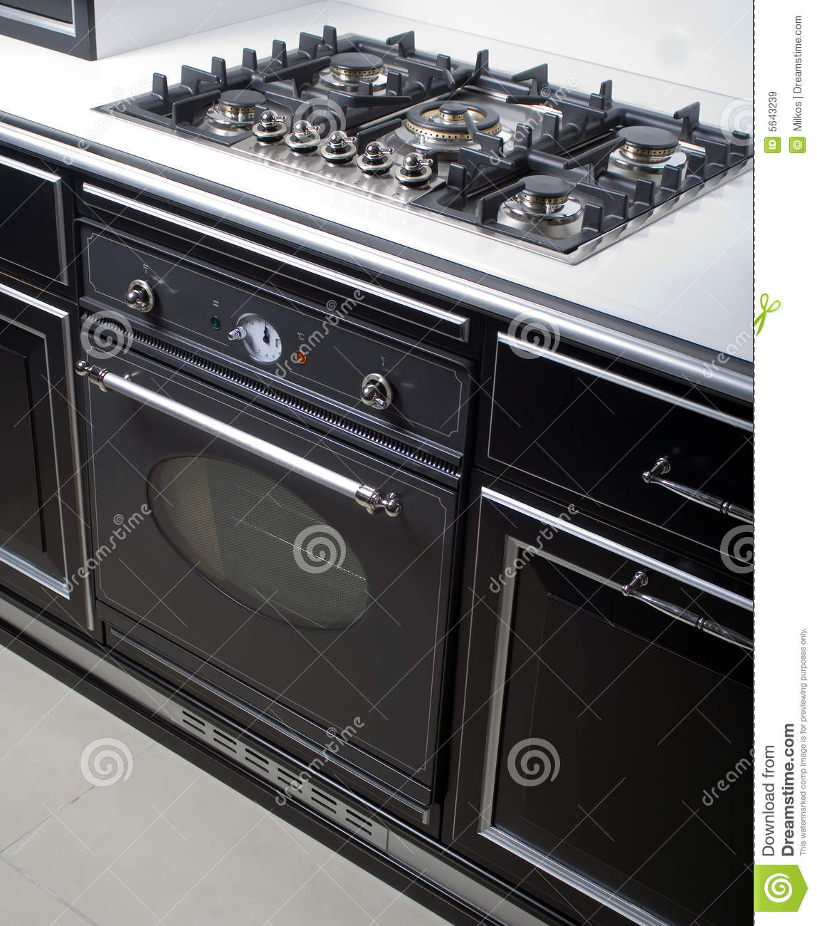 Modern Kitchen Oven: Modern Gas Stove And Oven Stock Image. Image Of Stove