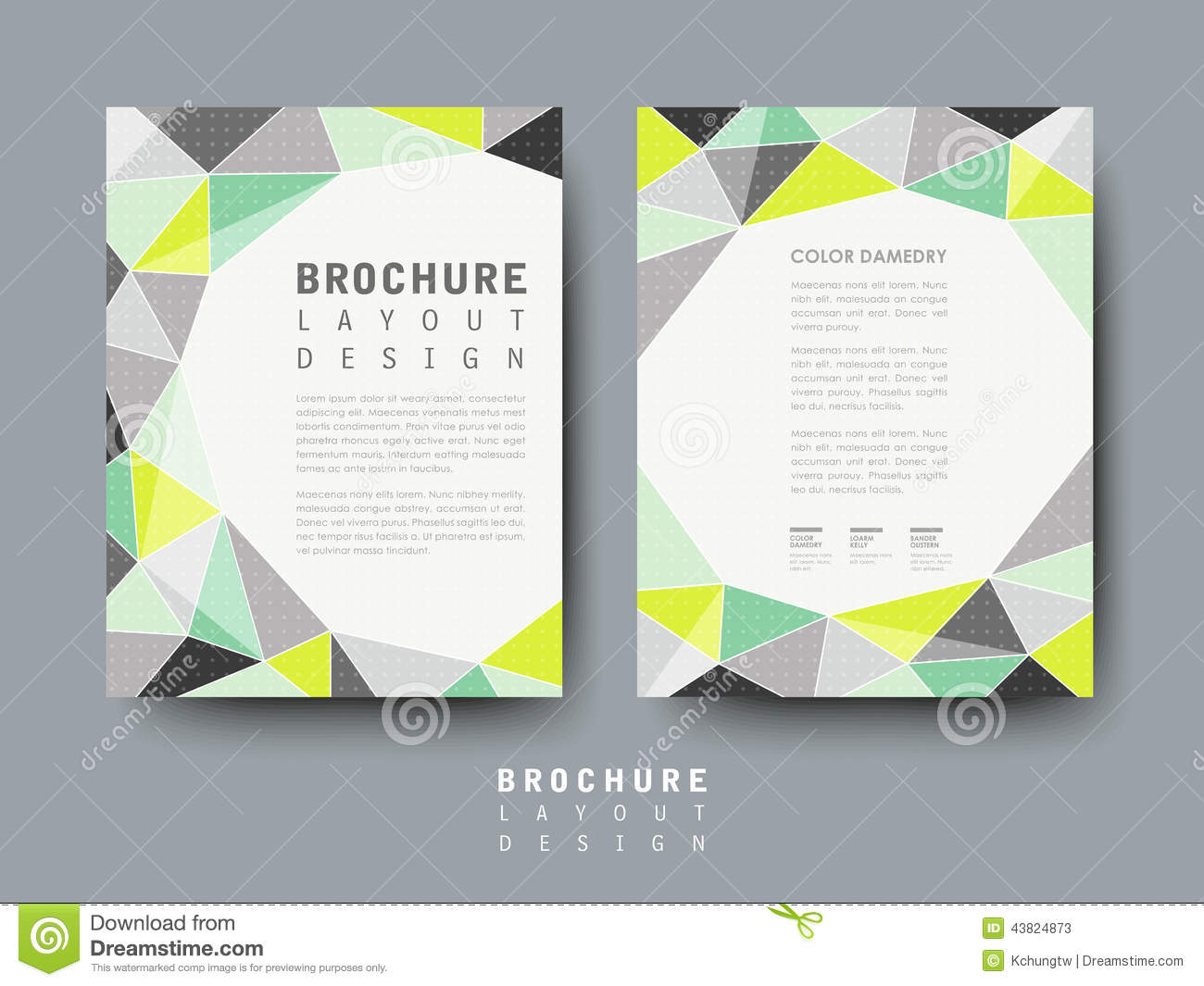 Modern Geometric Style Flyer Template. Royalty Free Vector  Advertising Flyer Templates Free