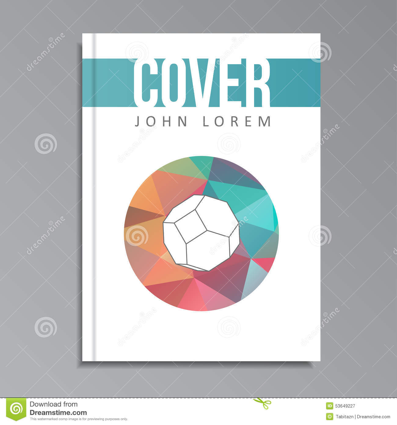 Modern Book Cover : Modern geometrical cover template for book brochure