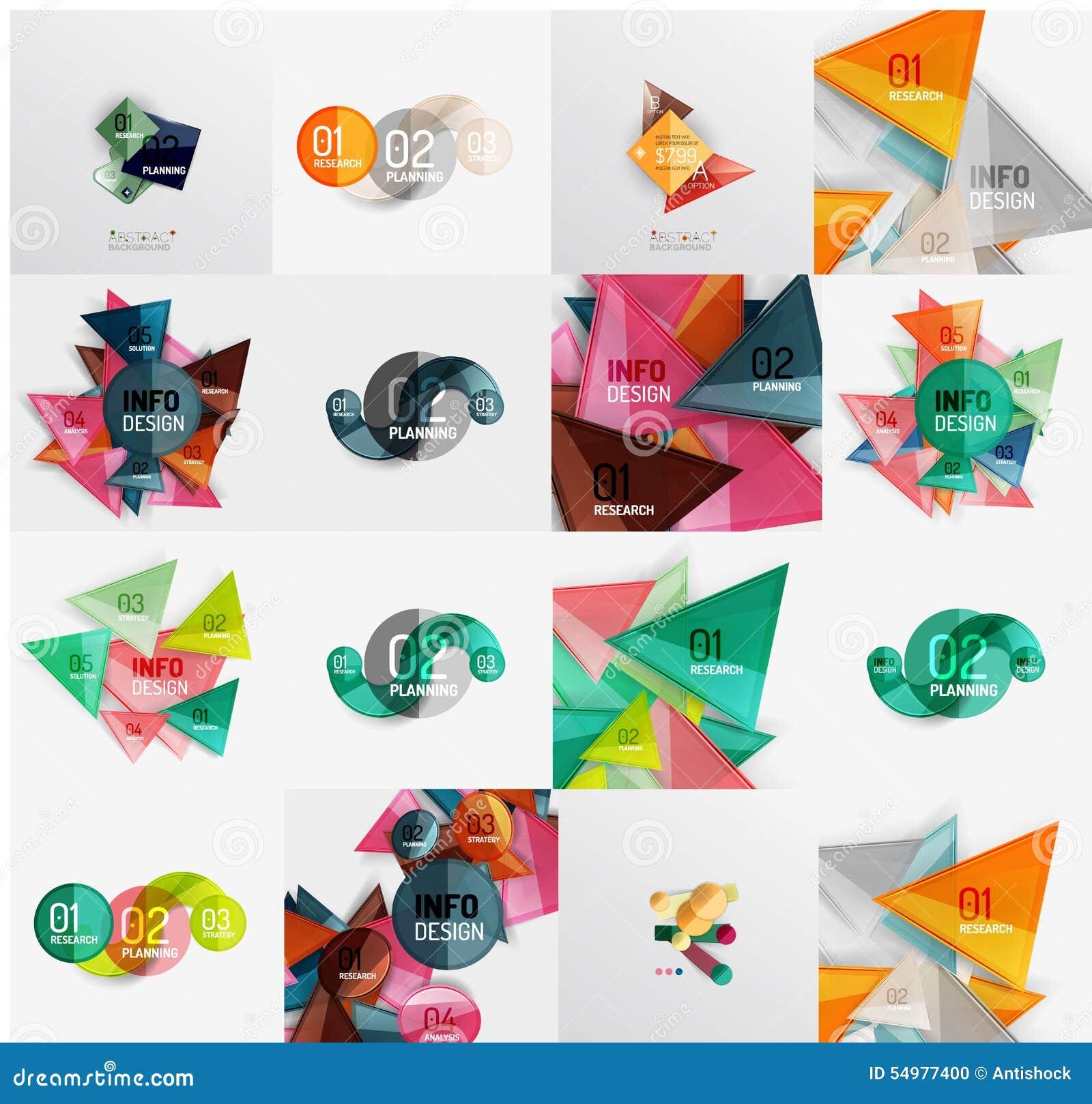 Modern geometrisch ontwerp temlates, universeel