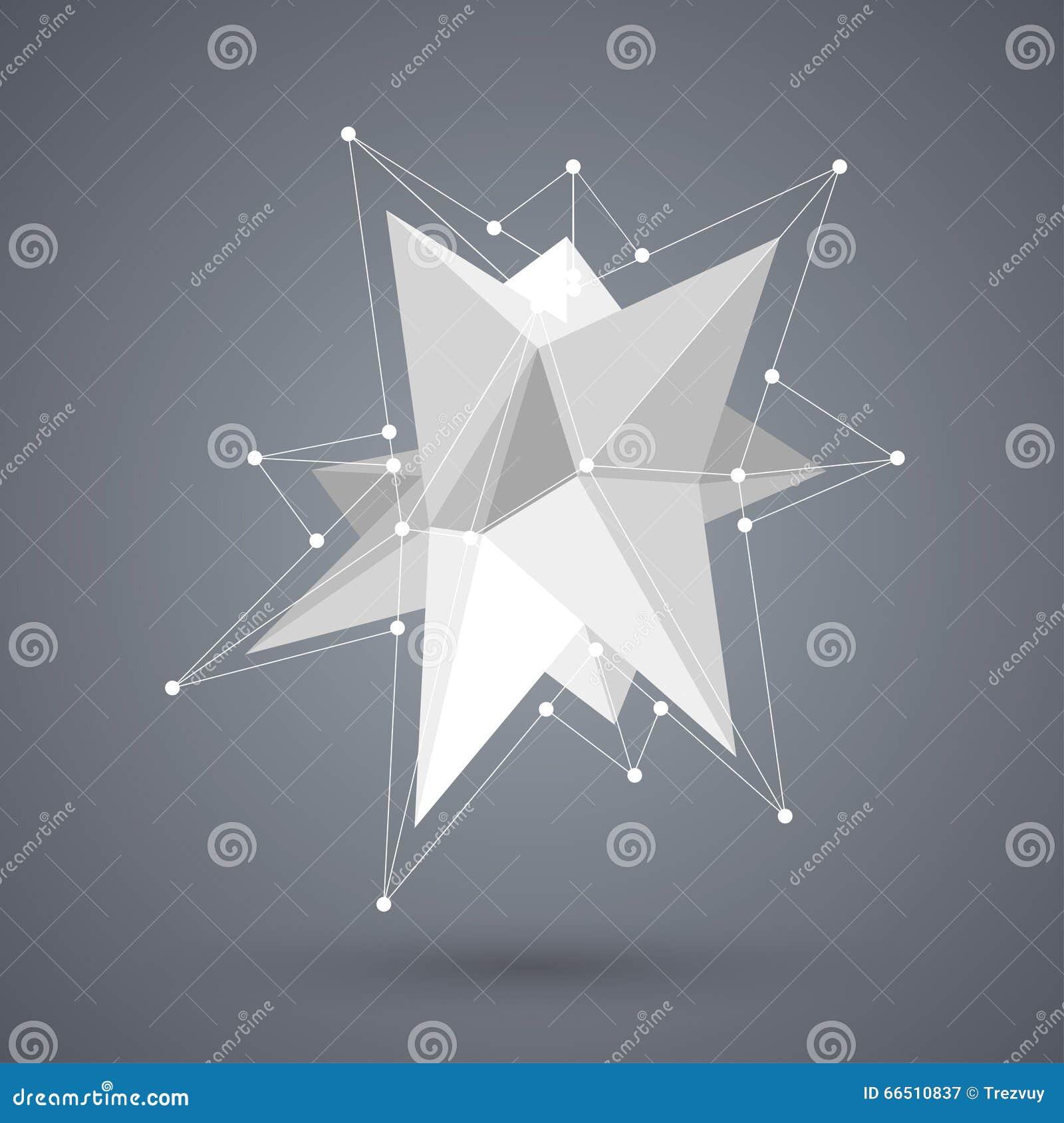 Modern geometrisk form för vektor Polygonbakgrund