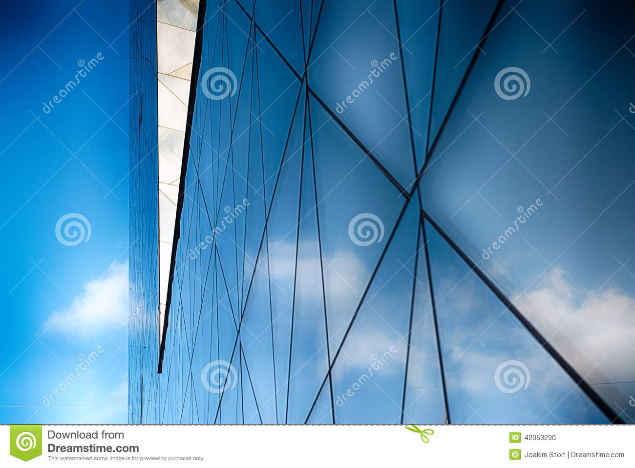 4c12b35396b Modern Glass Building In Abstract Stock Photo - Image of business ...