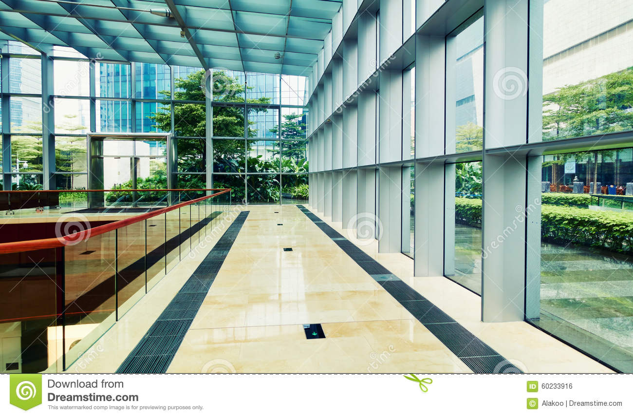 Glass Building Interior : Modern glass commercial building stock photo image of