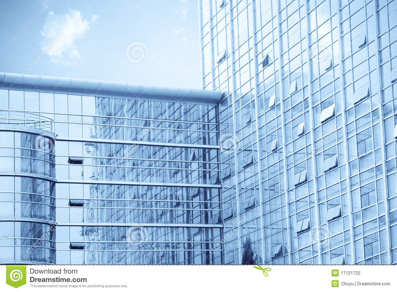 Curtain Wall Building Design : Modern glass curtain wall building stock photography