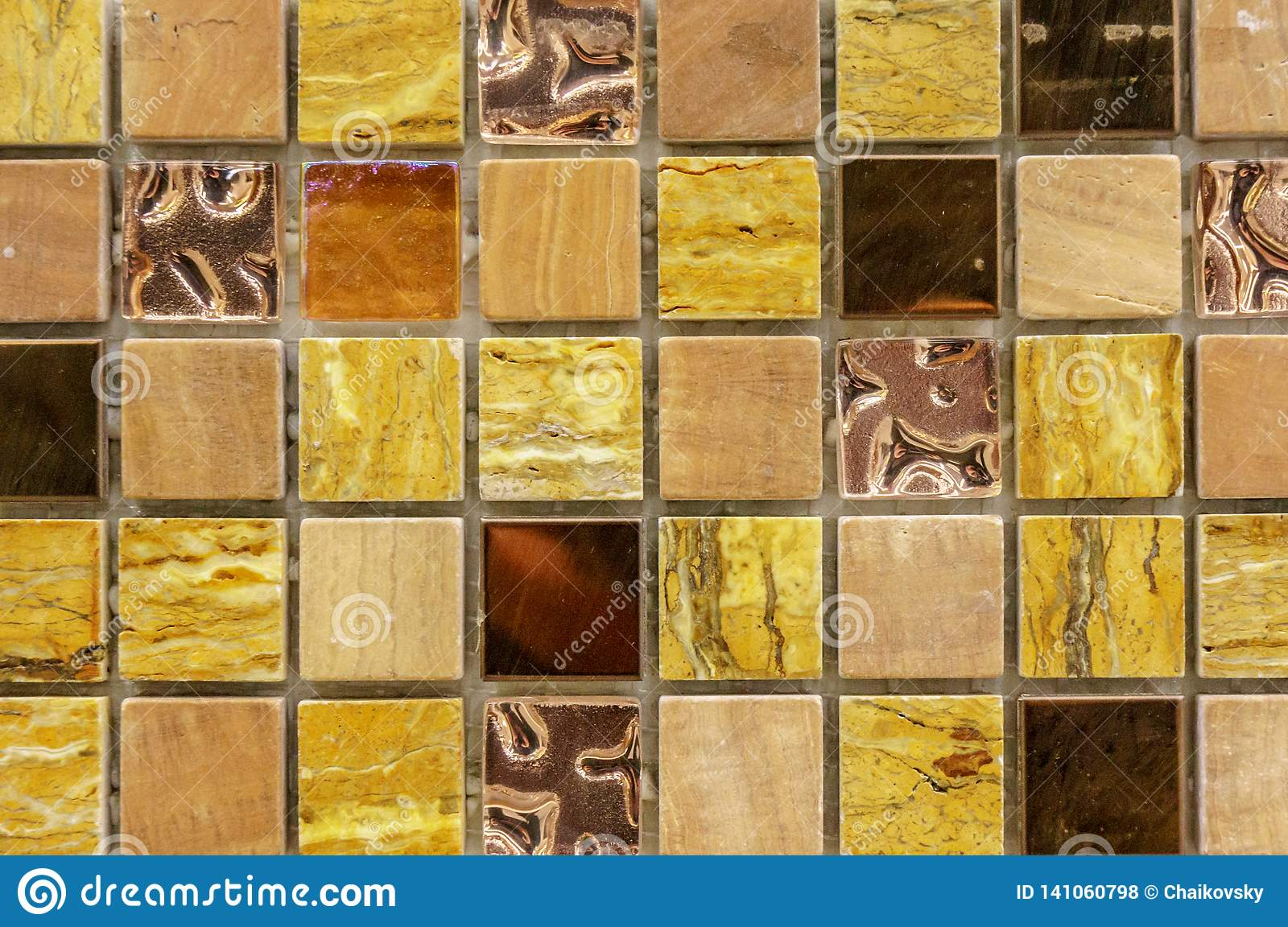 Modern Glass Mosaic Tiles Background Mix Color Pattern For