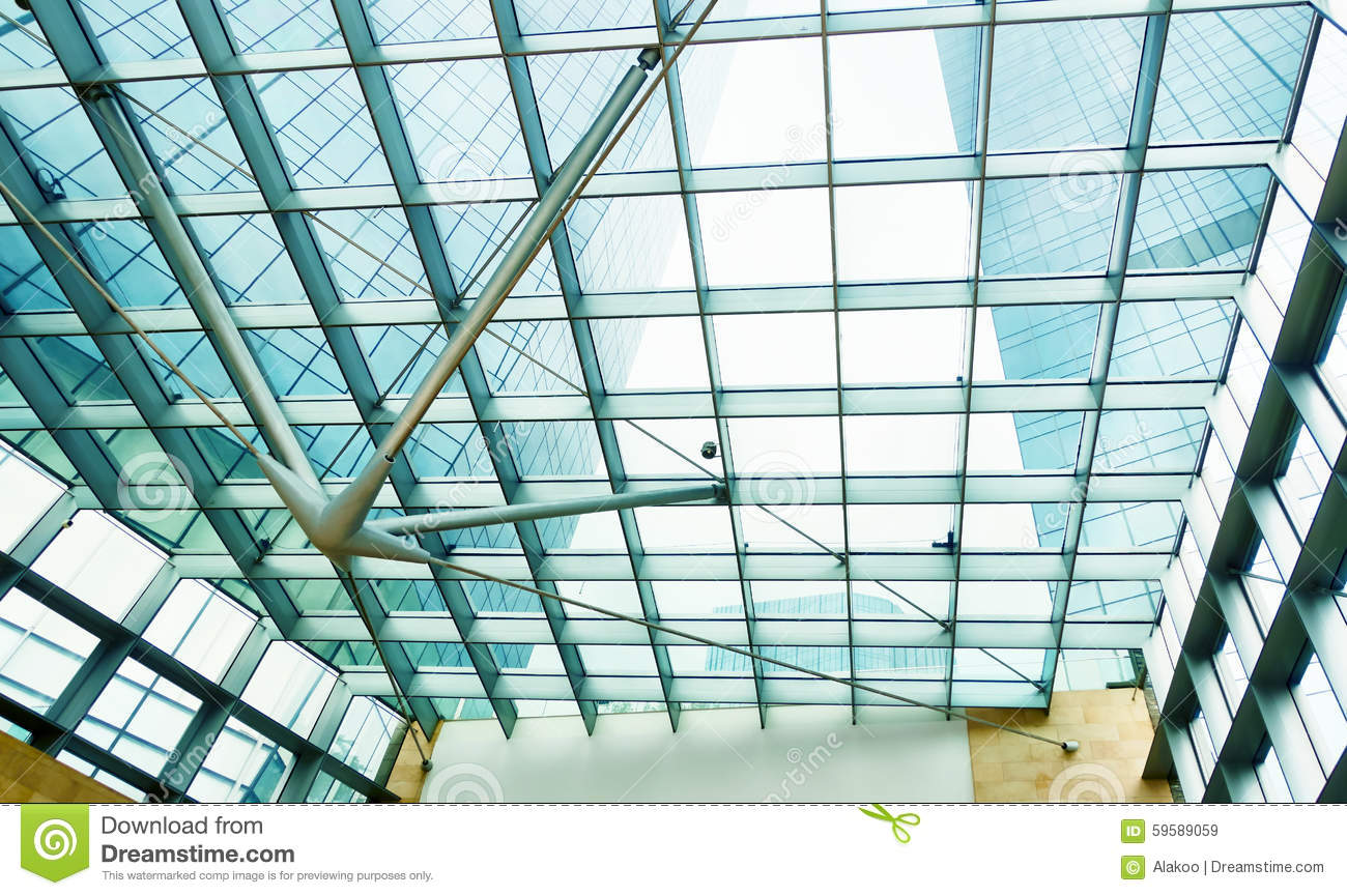 Modern Glass Office Commercial Building Stock Photo