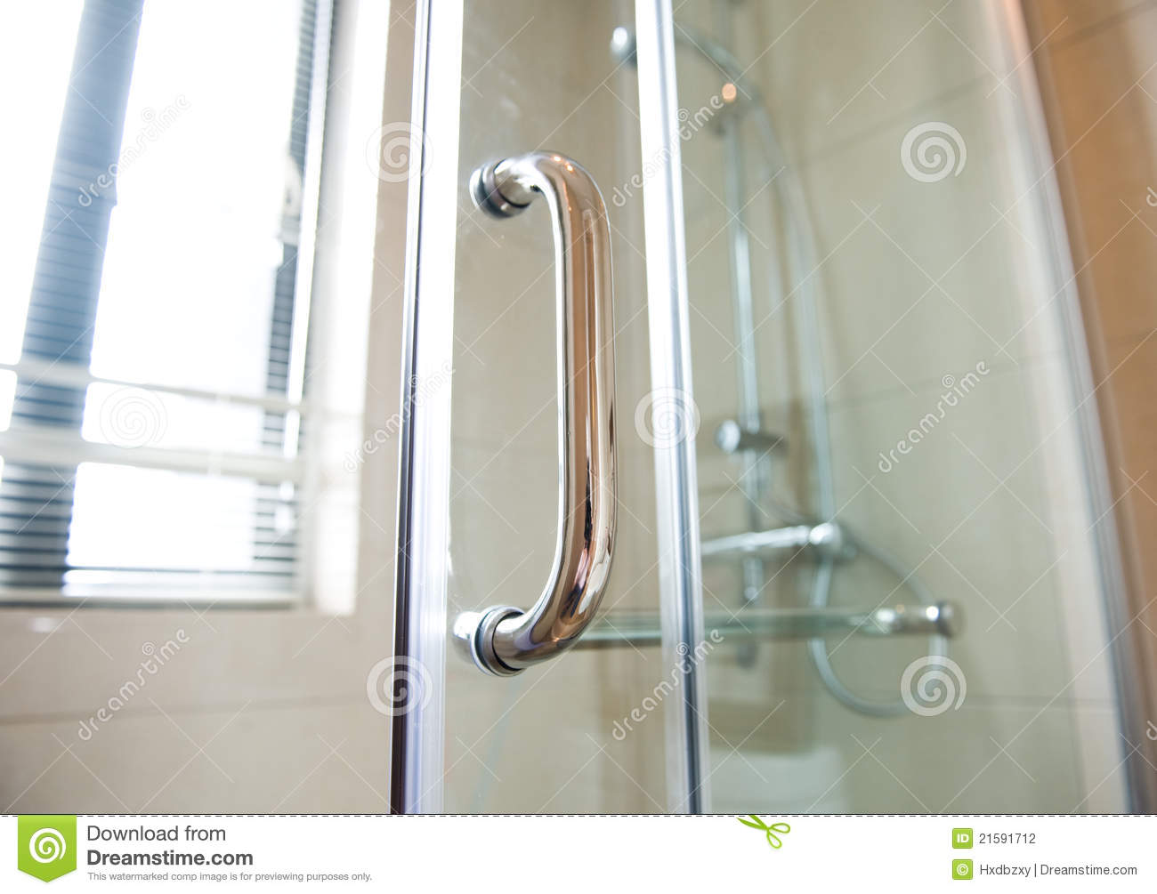 modern glass shower cabin stock photography image 21591712