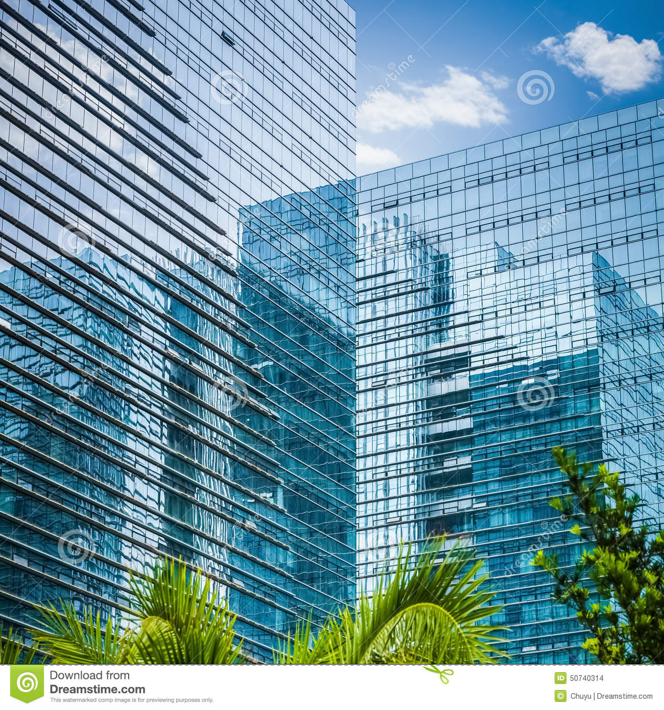 Modern glass skyscraper stock photo image 50740314 for Exterior glass wall texture