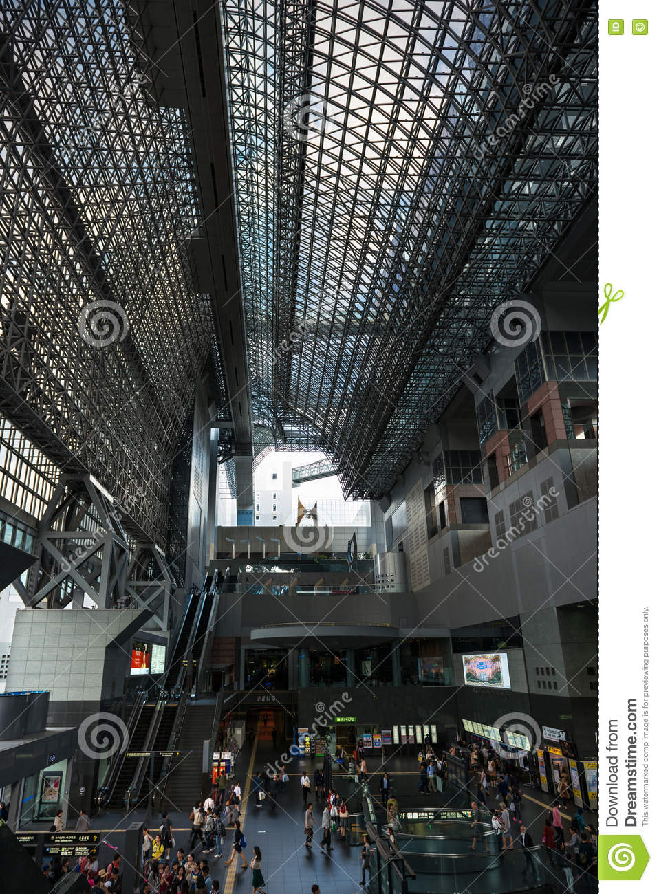Modern Glass And Steel Architecture Of Kyoto Train Station Editorial - Architecture-design-in-kyoto-japan