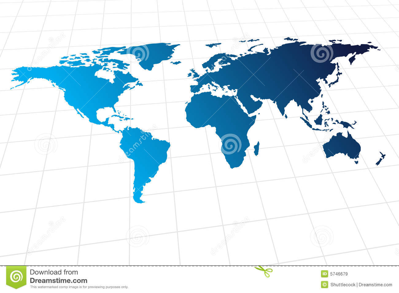 Modern Global World Map Royalty Free Stock Images Image 5746679