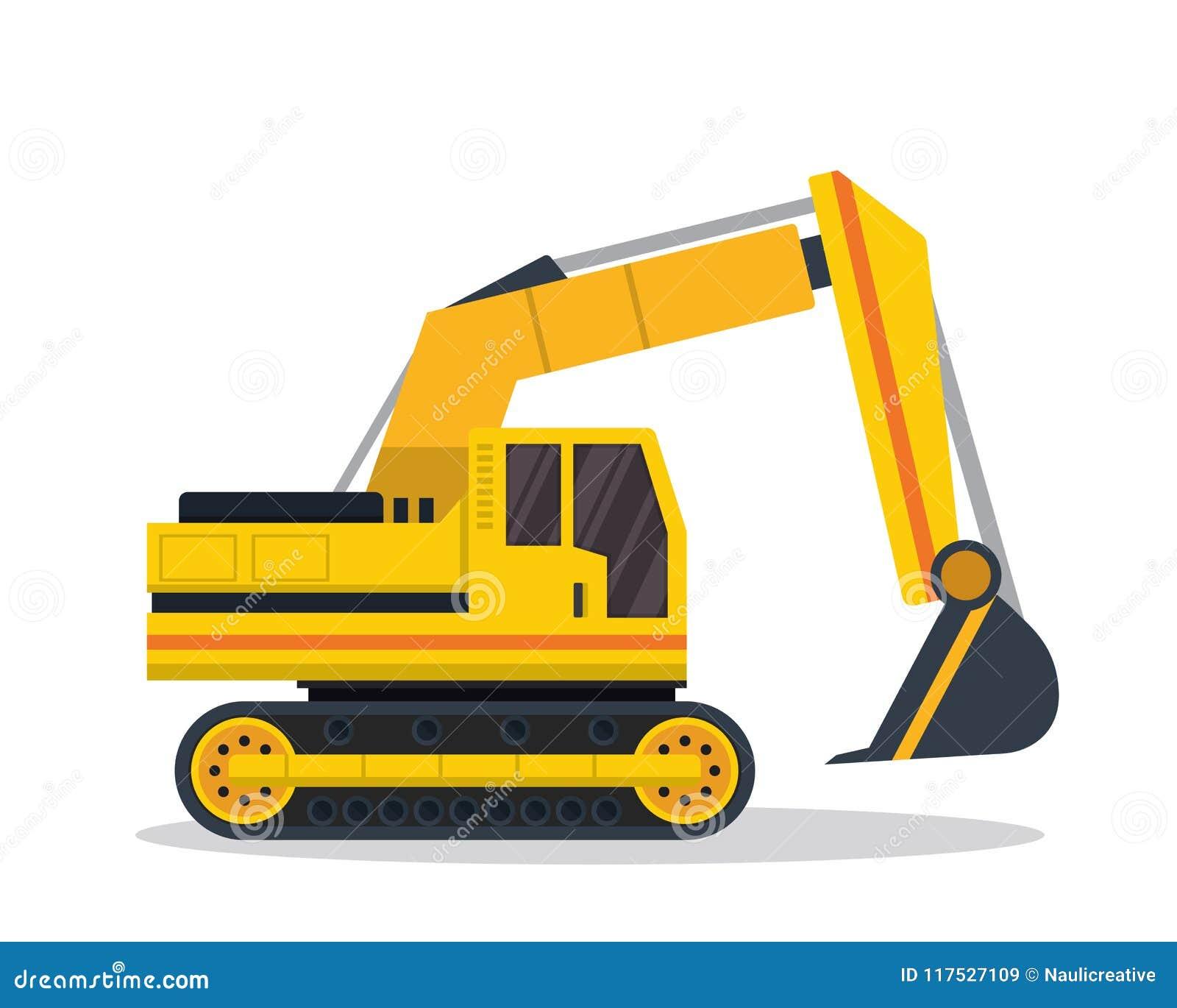 Modern grävskopaFlat Construction Vehicle illustration