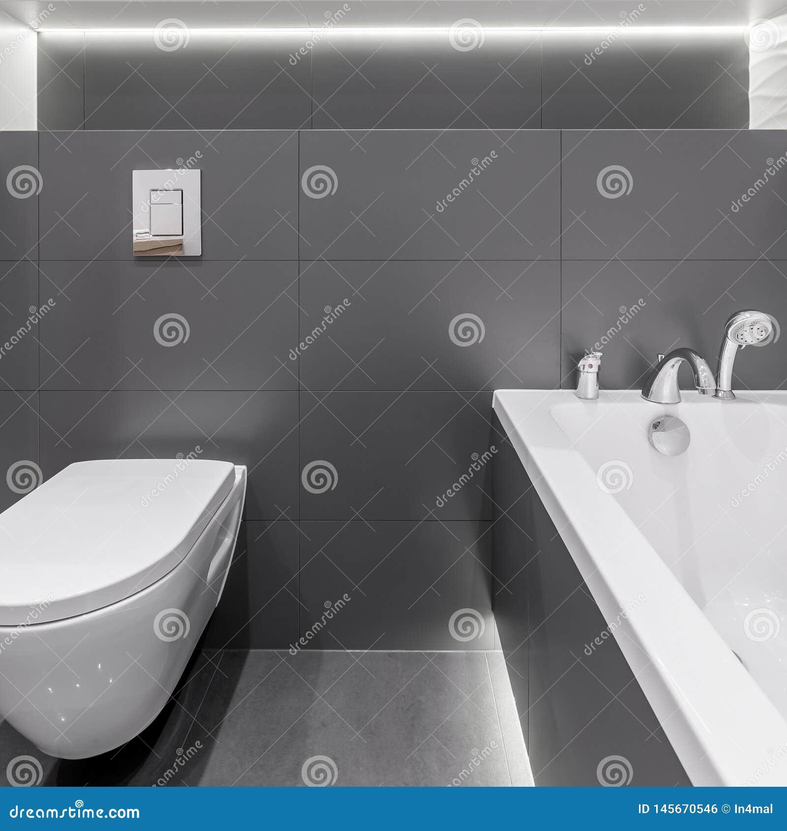 Modern grafit i badruminre