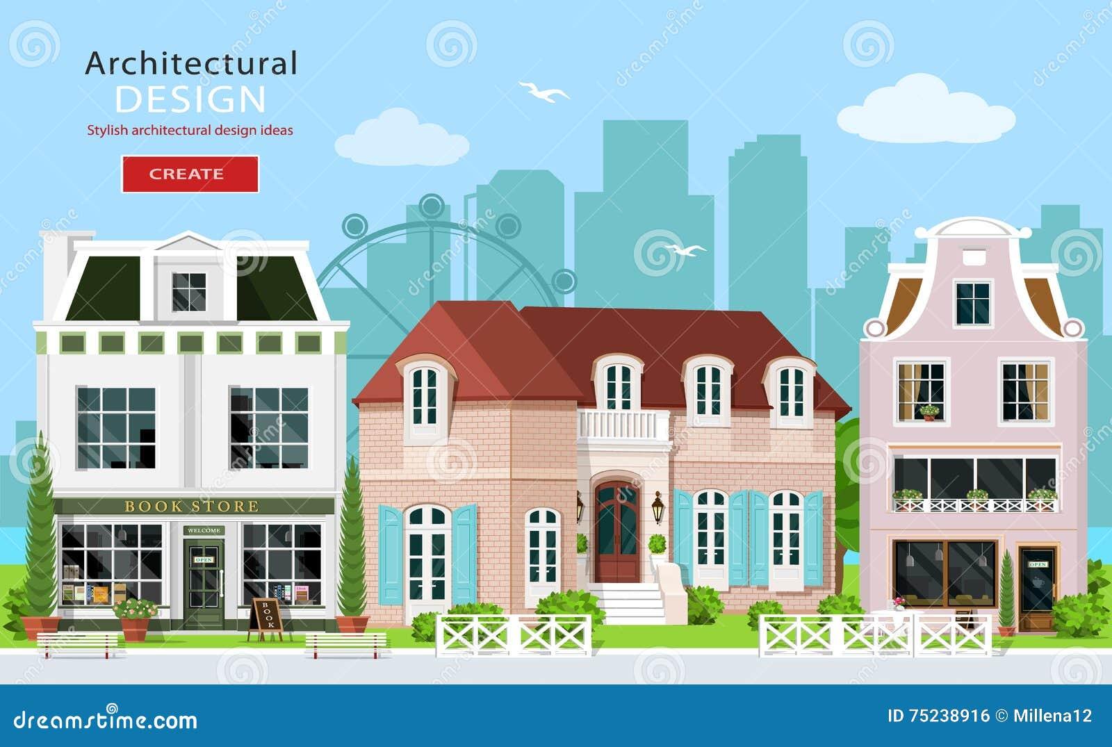 Modern graphic architectural design