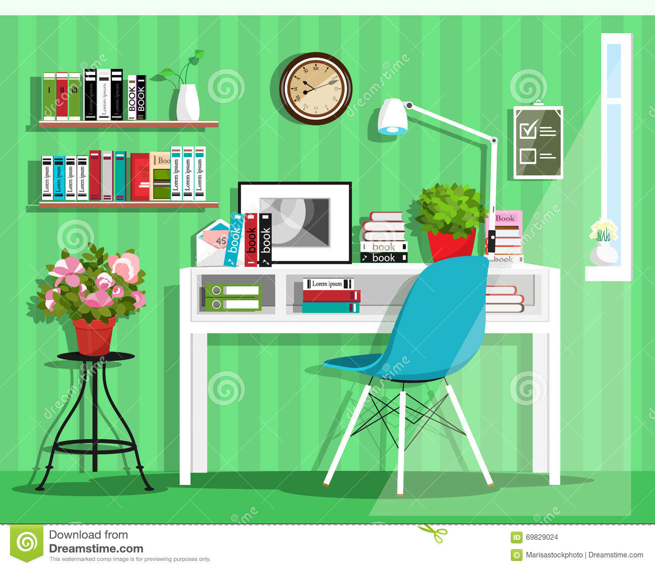3d shelves design form colored circles stock photography for Interior house design clipart