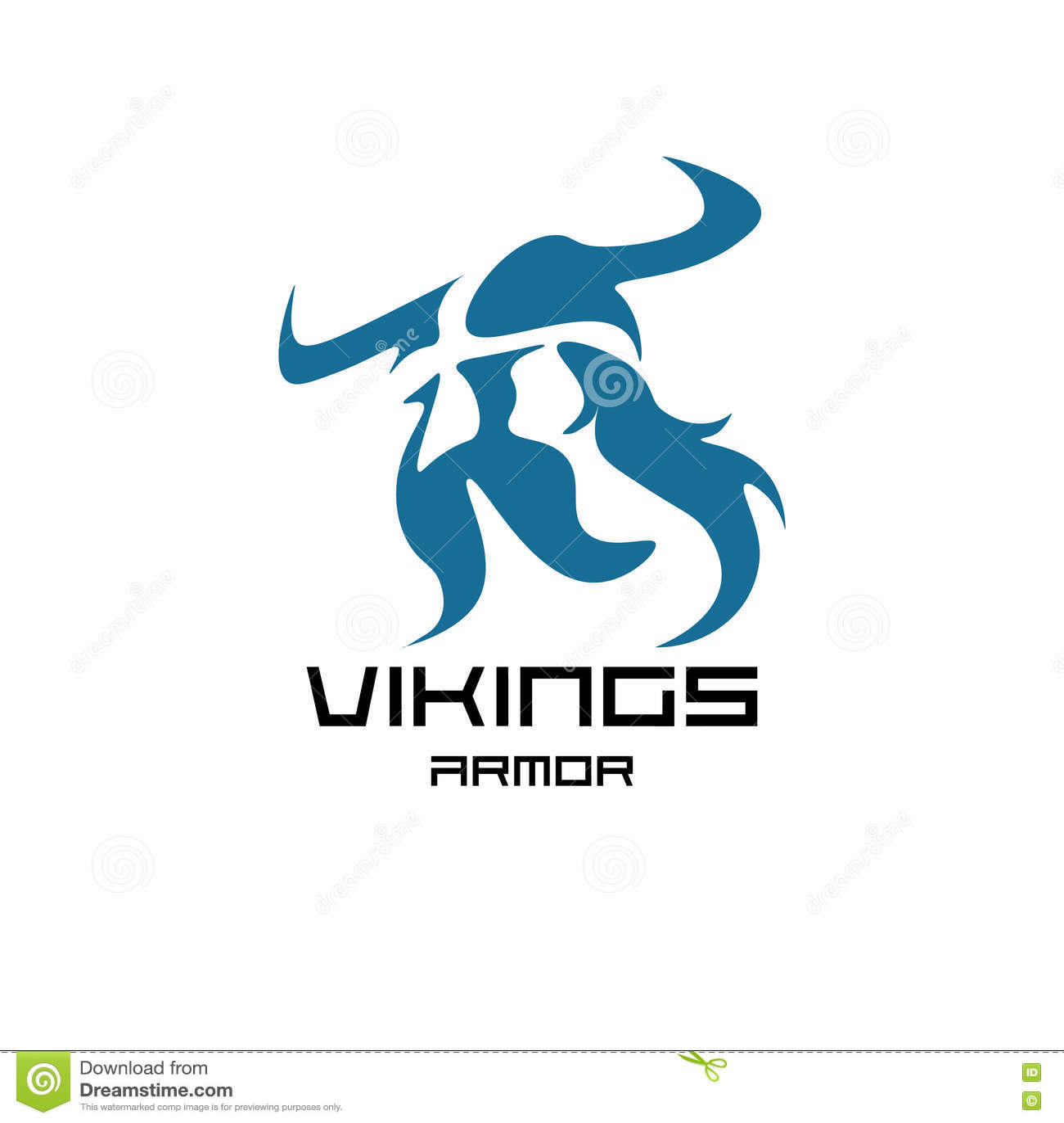 Ancient Viking Head Logo For Mascot Design Cartoon Vector