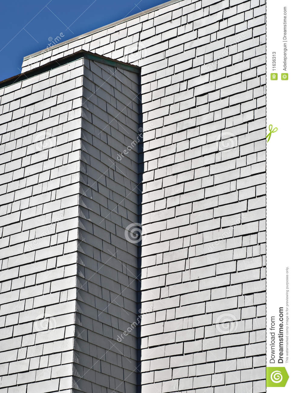 Modern gray building with shingles stock photos image for Modern roofing materials