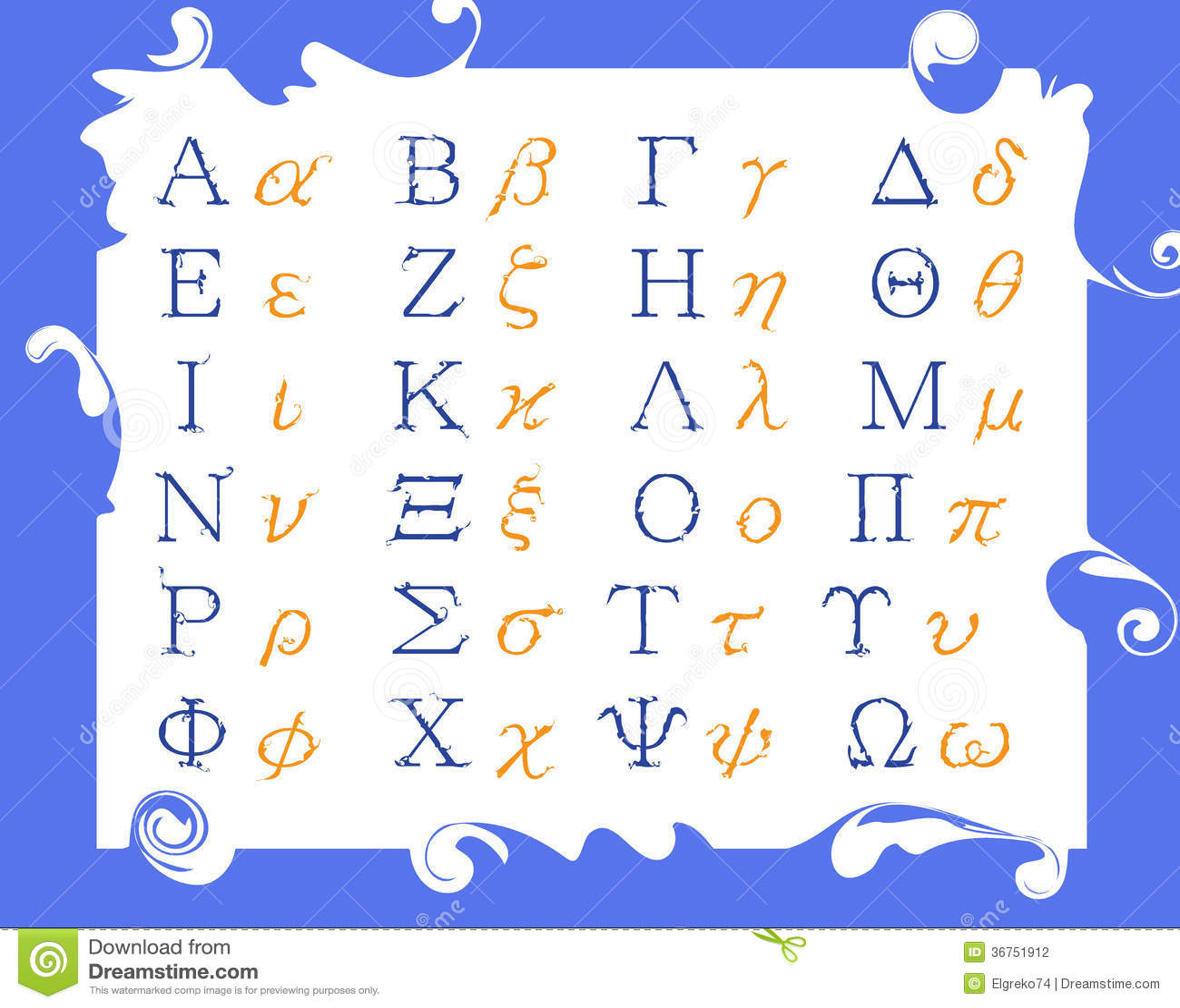 Modern Greek alphabet