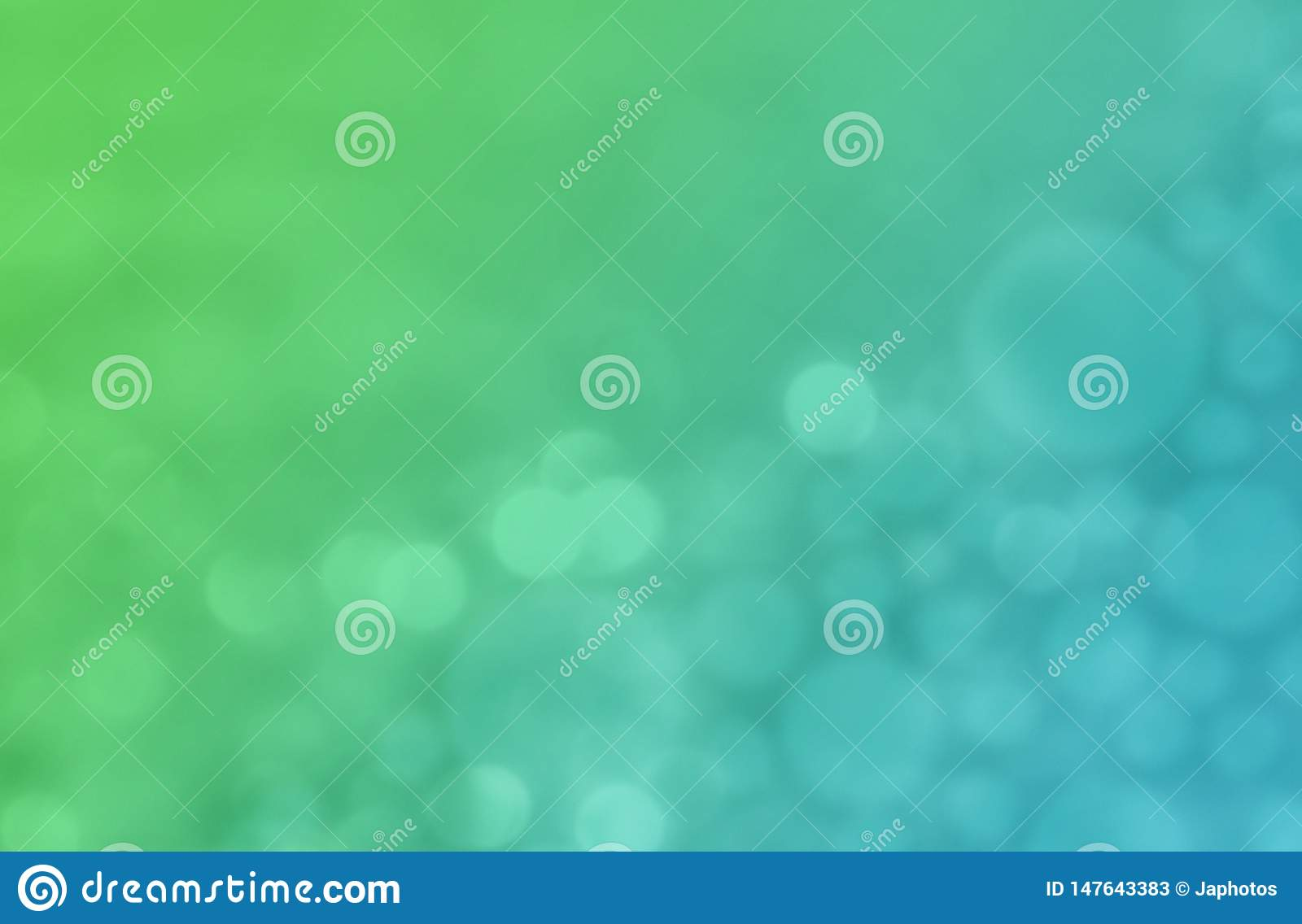 Modern Green And Blue Colorful Bokeh Abstract Wallpaper Background
