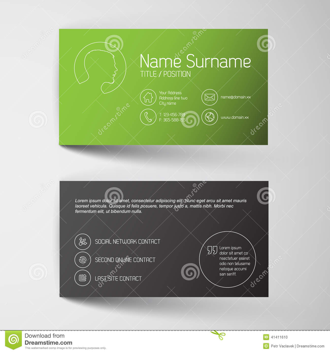modern green business card template simple graphic stock modern green business card template simple graphic